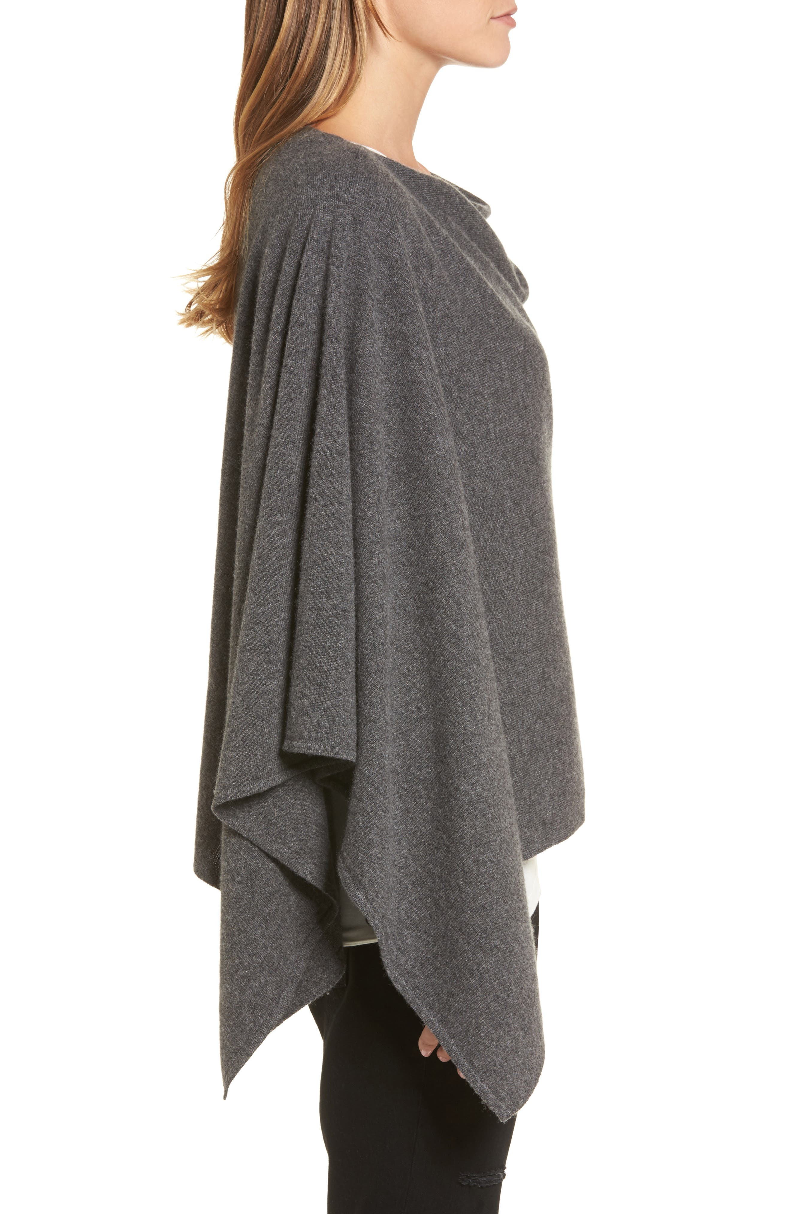 Alternate Image 3  - Halogen® Convertible Cashmere Poncho