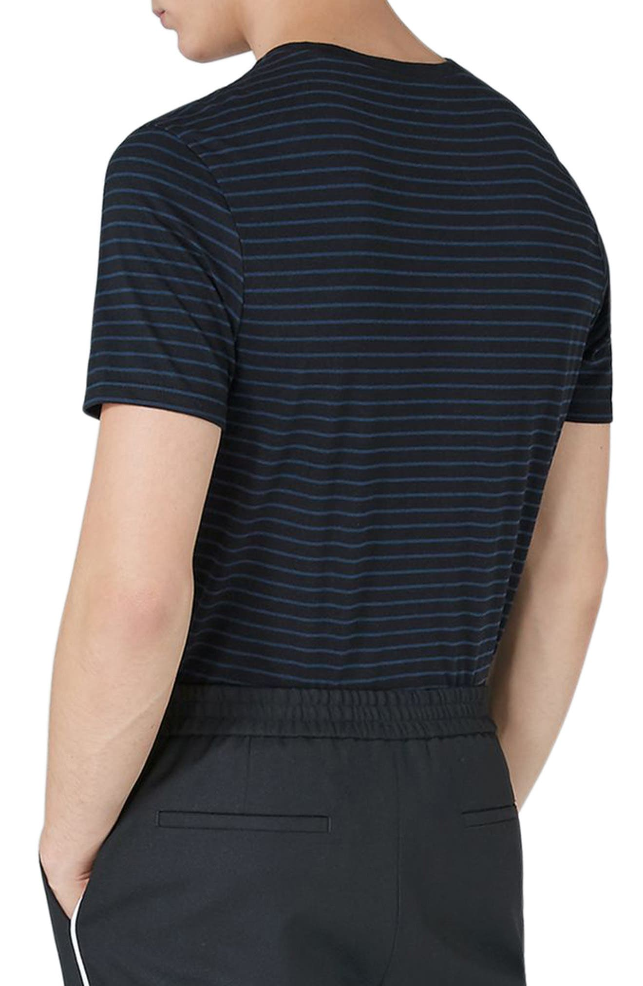 Alternate Image 2  - Topman Slim Fit Stripe T-Shirt