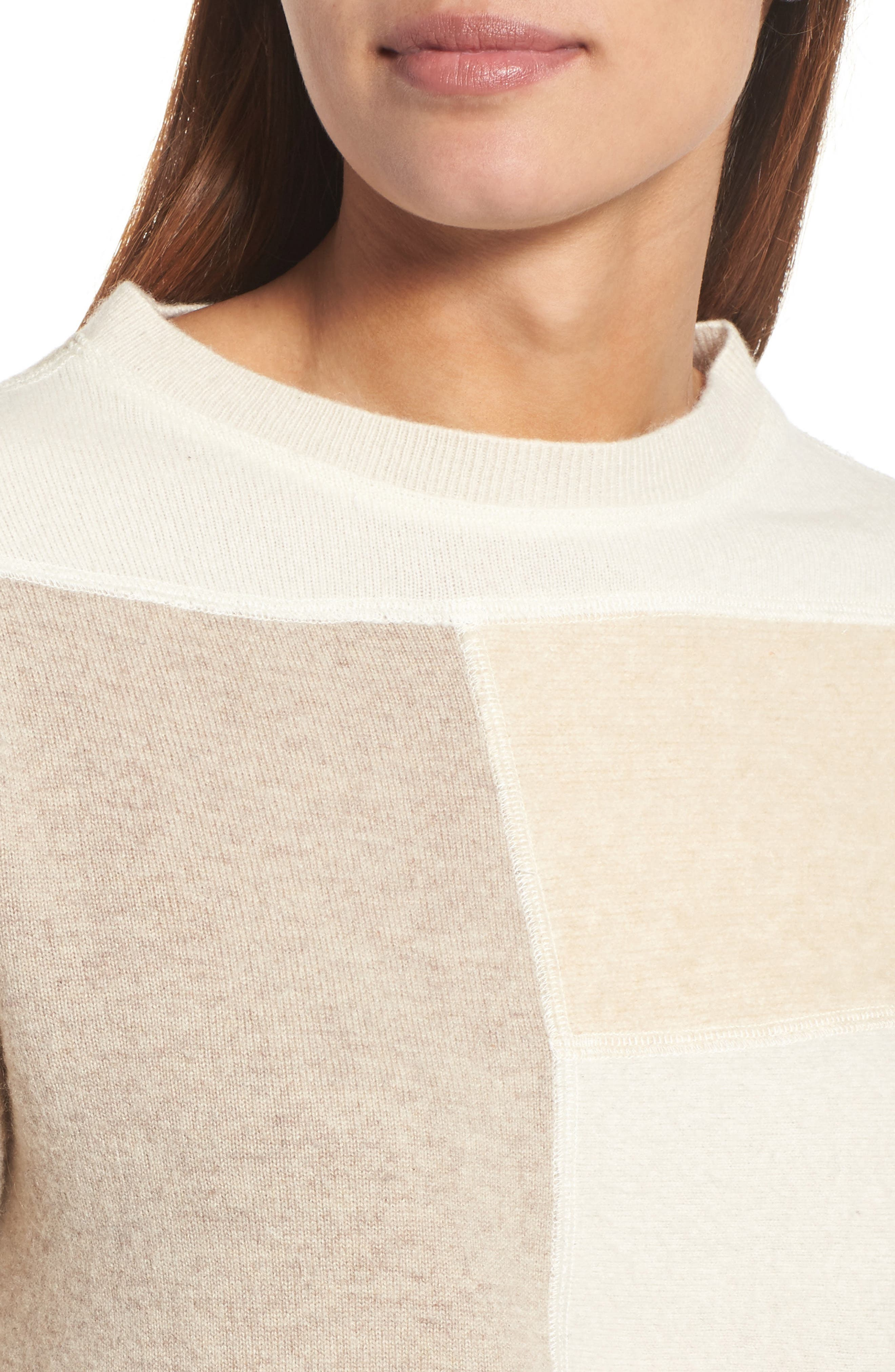 Alternate Image 4  - Eileen Fisher Colorblock Cashmere Sweater (Nordstrom Exclusive)