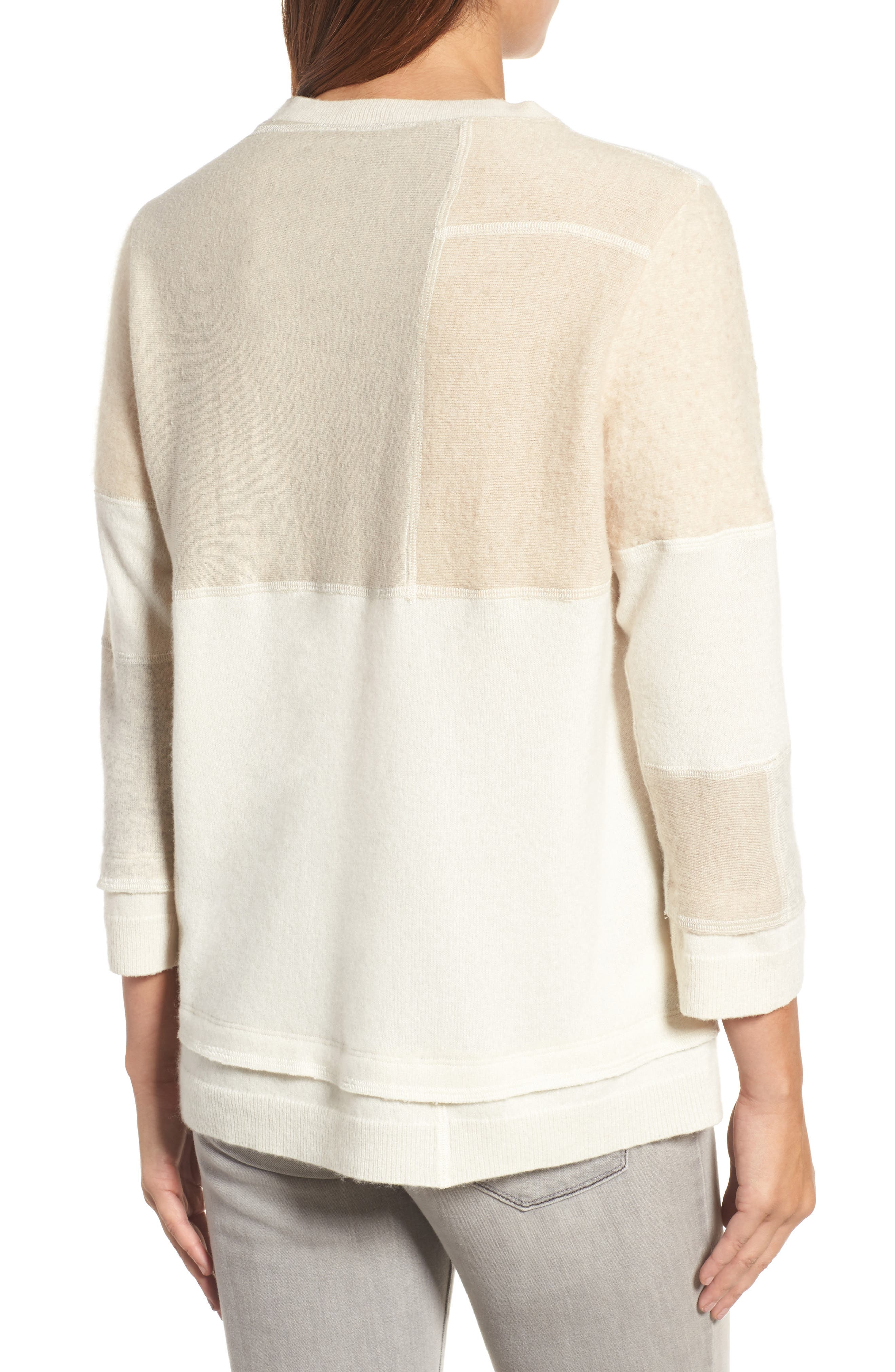 Alternate Image 2  - Eileen Fisher Colorblock Cashmere Sweater (Nordstrom Exclusive)