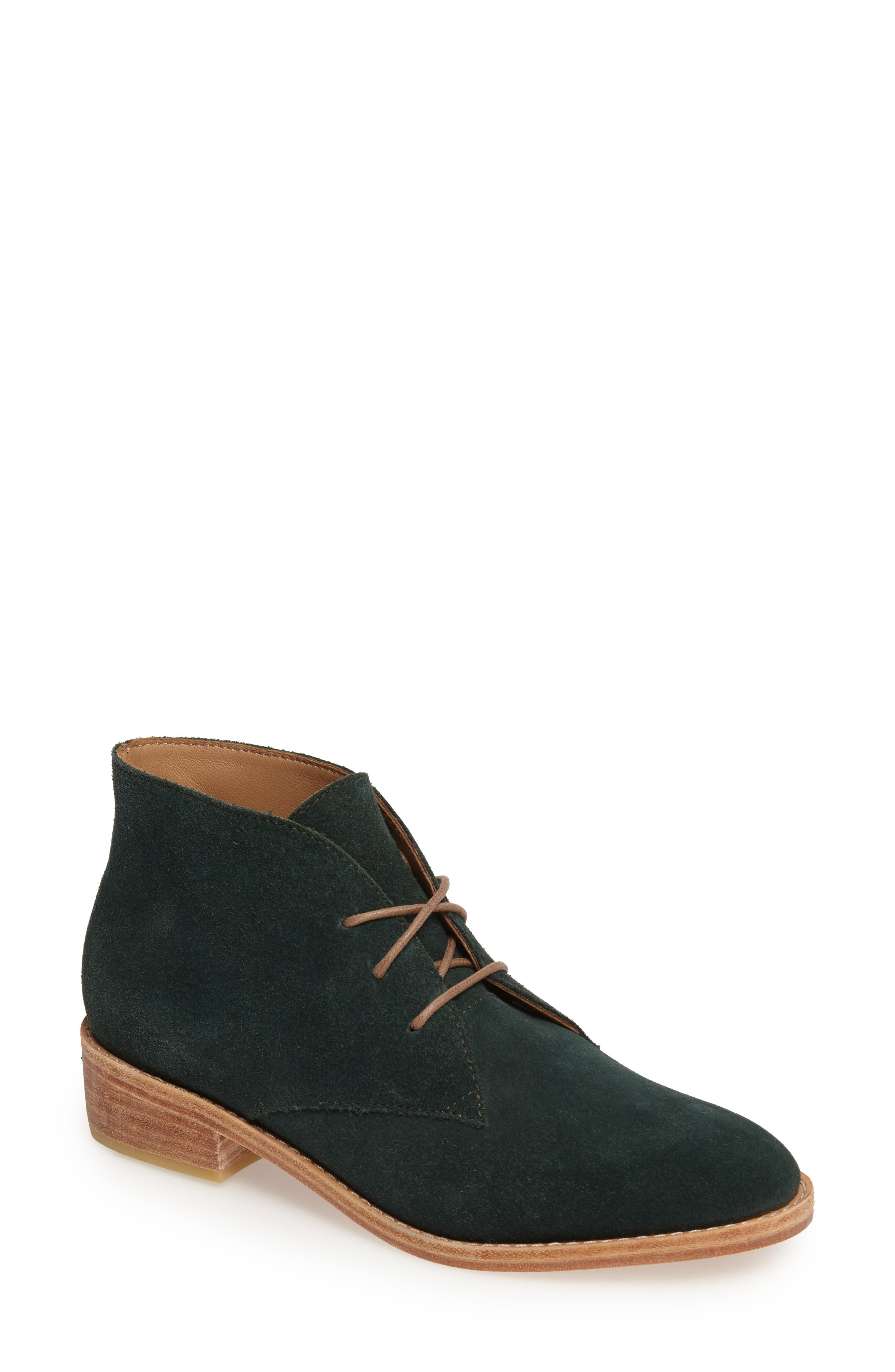 Manuela Chukka Boot,                             Main thumbnail 1, color,                             Forest Green Suede