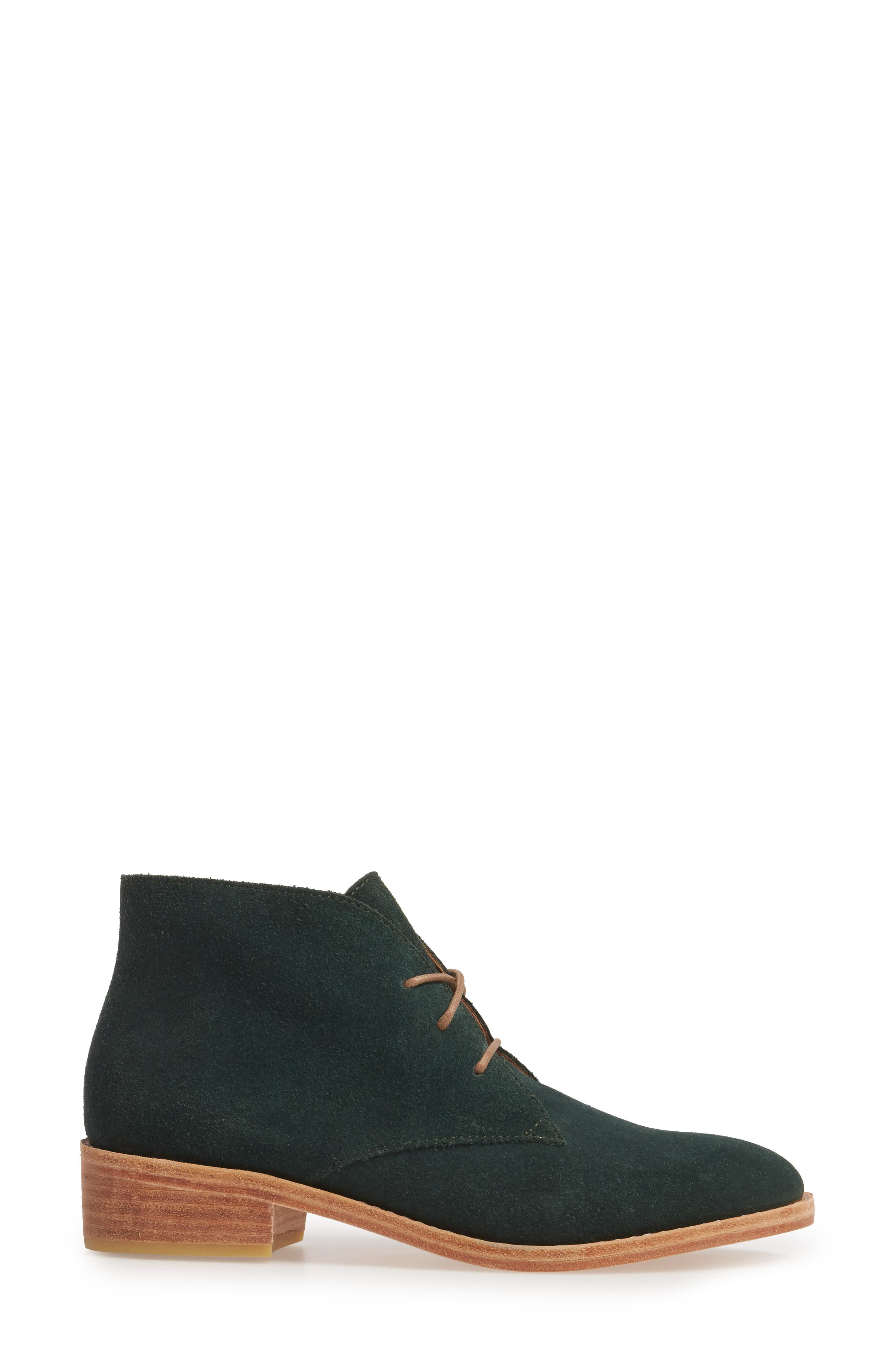 Manuela Chukka Boot,                             Alternate thumbnail 3, color,                             Forest Green Suede