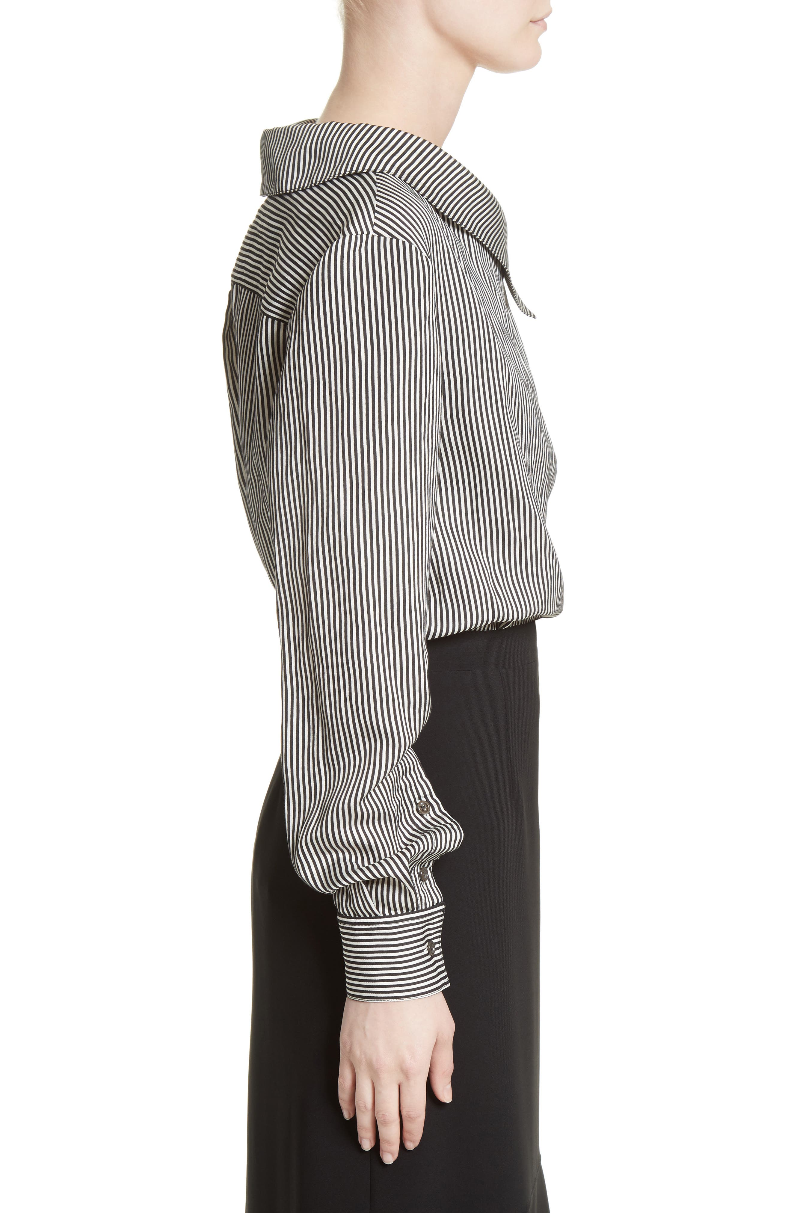 Alternate Image 3  - Altuzarra Asymmetrical Pinstripe Shirt