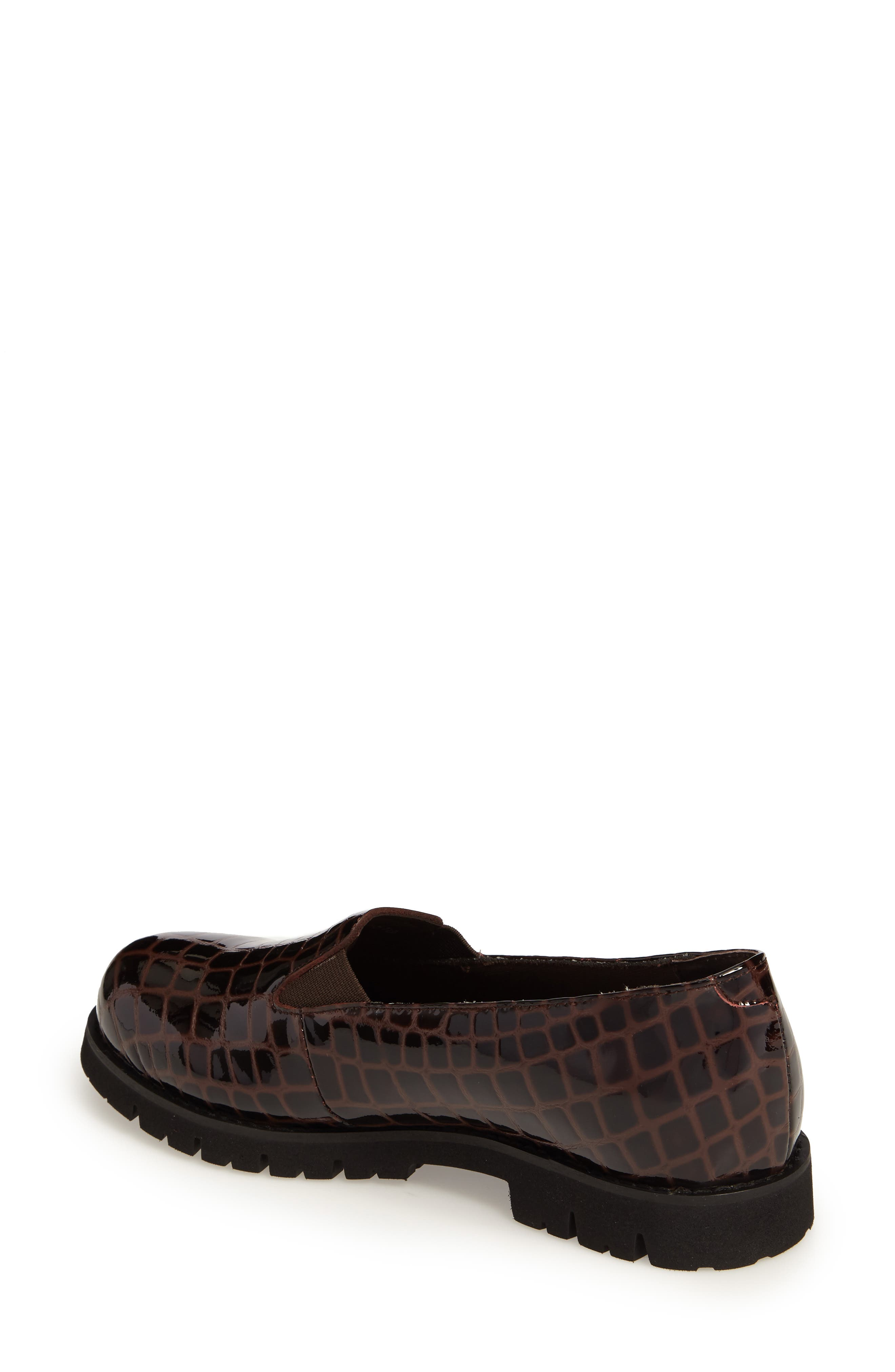 Pearl Loafer,                             Alternate thumbnail 2, color,                             Brown Patent Leather