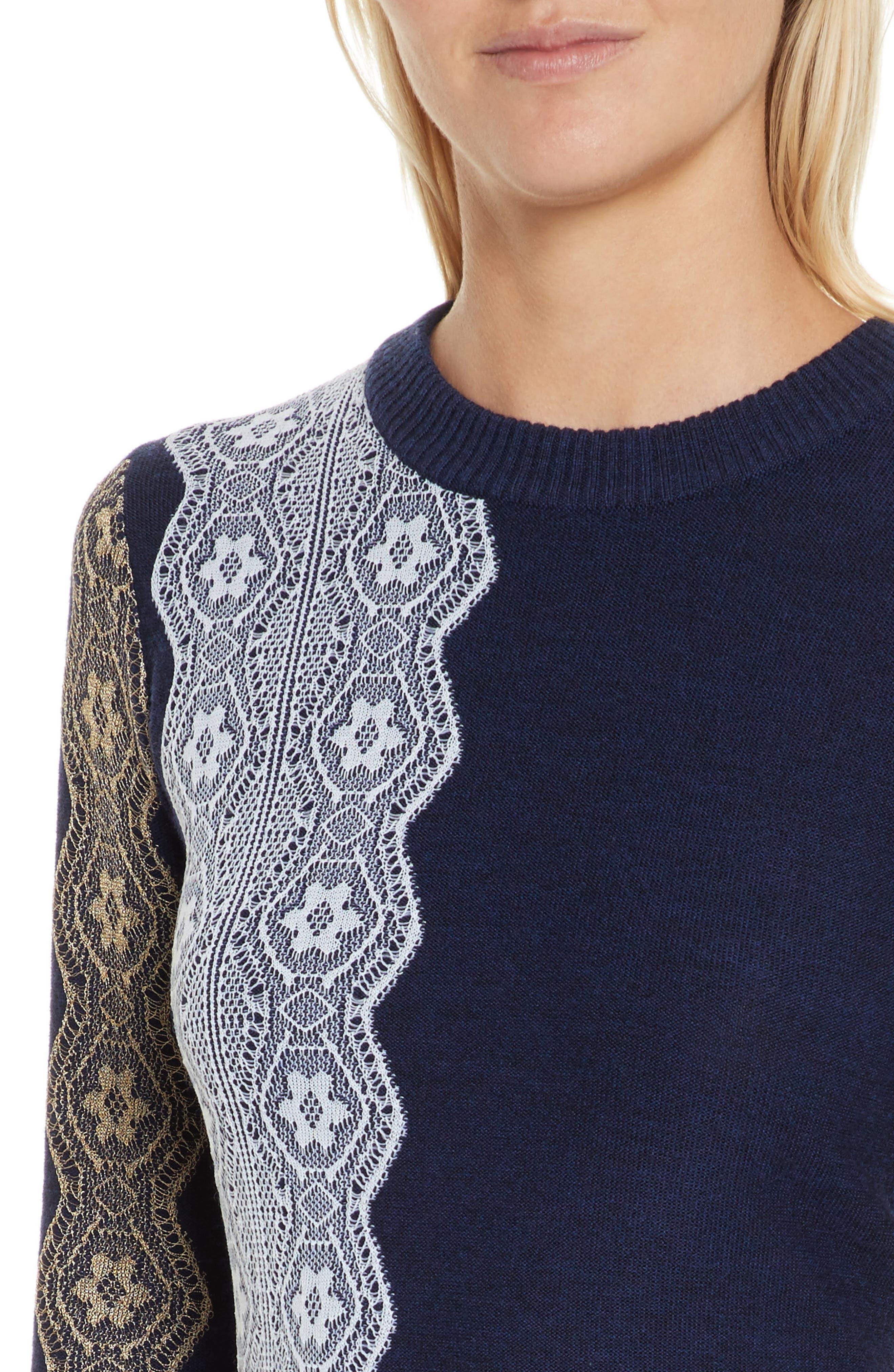 Alternate Image 4  - 3.1 Phillip Lim Intarsia Lace Wool Blend Dress
