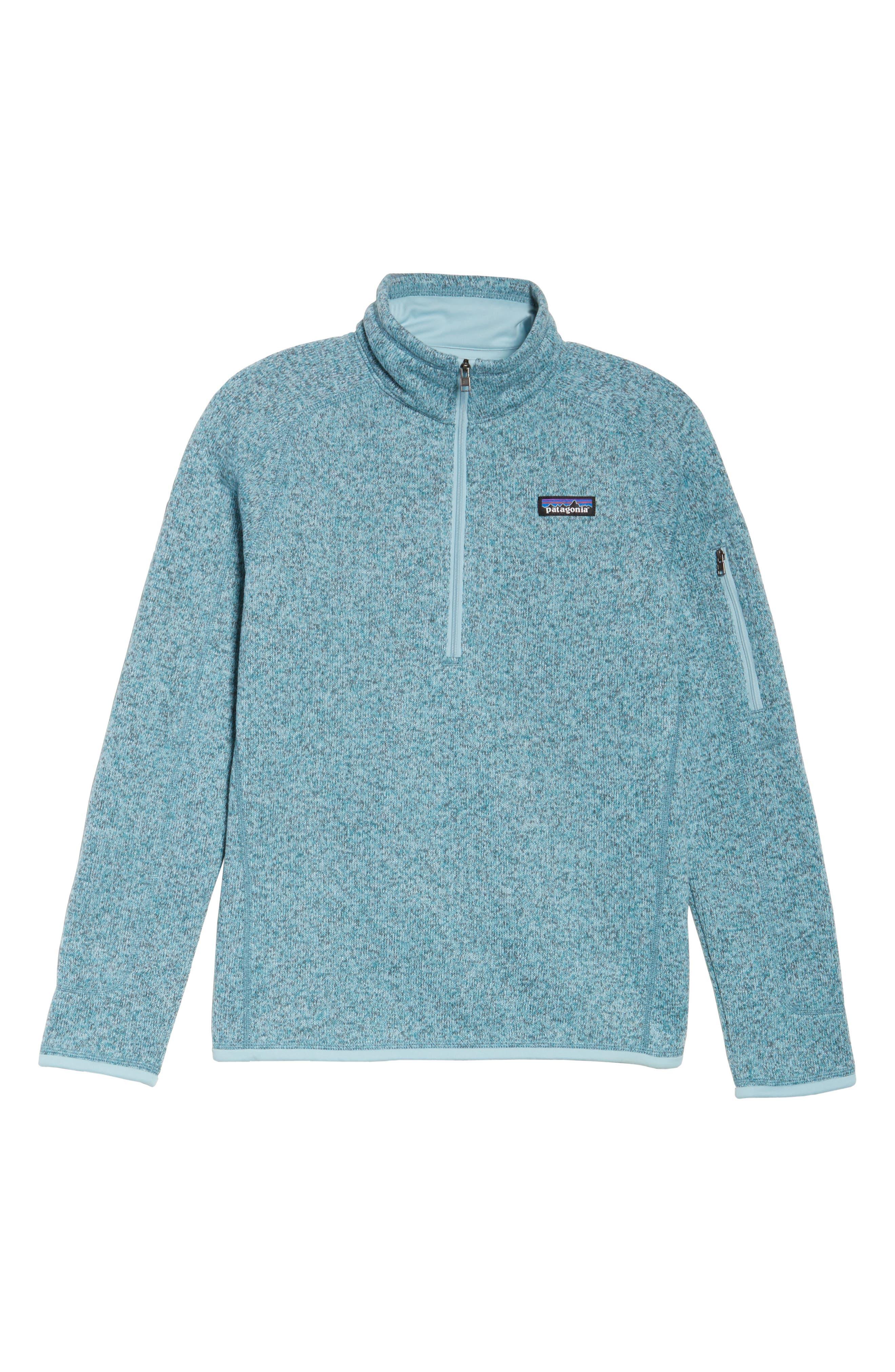 'Better Sweater' Zip Pullover,                             Alternate thumbnail 7, color,                             Tubular Blue W/ Crevasse Blue