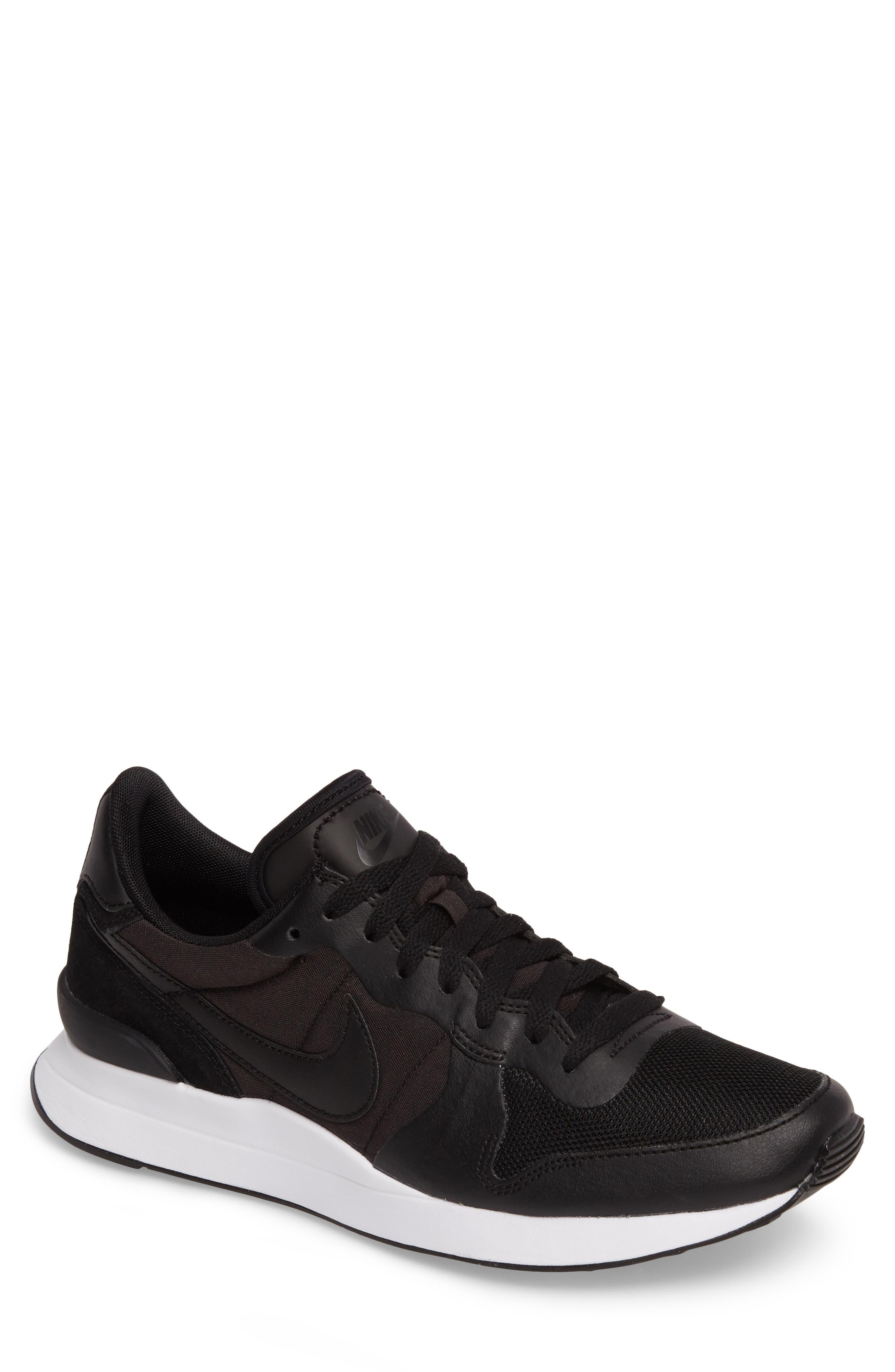 Internationalist LT17 Sneaker,                             Main thumbnail 1, color,                             Black/ Black/ White