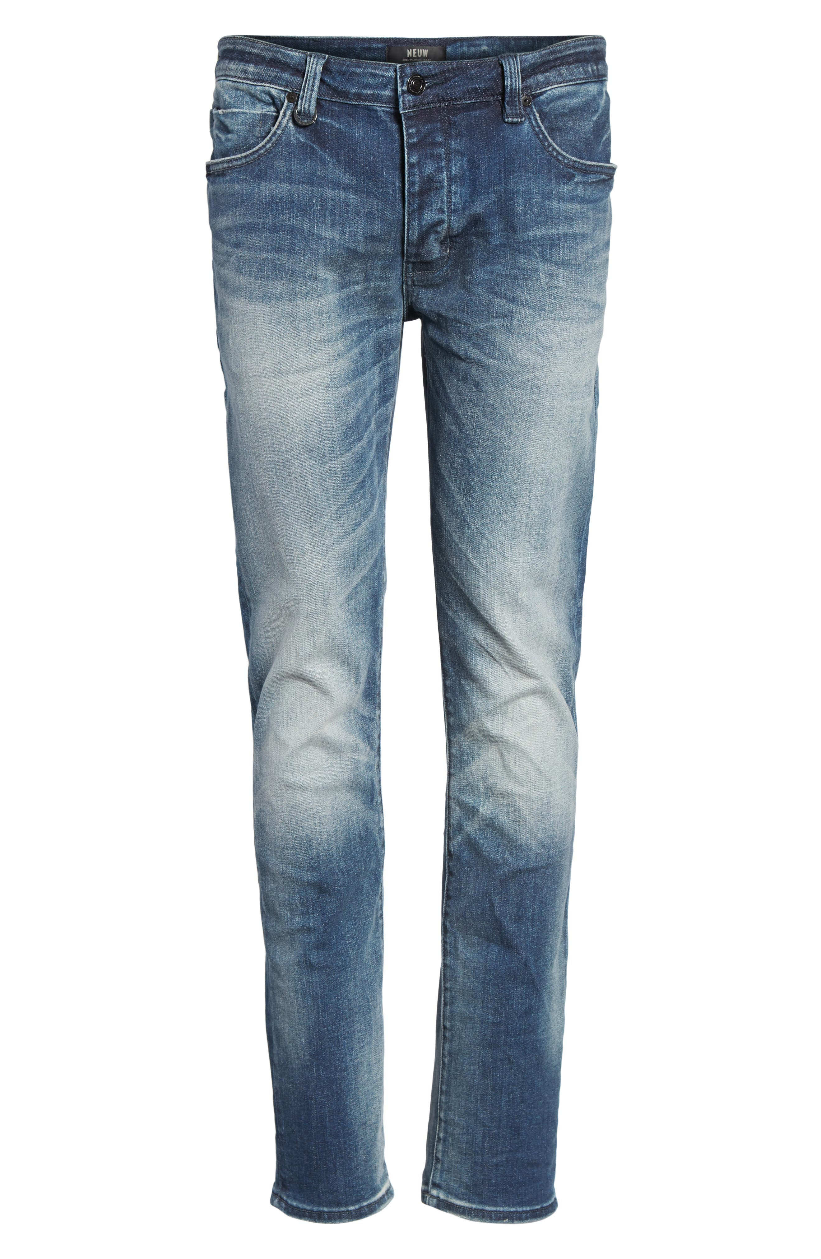 Alternate Image 6  - NEUW Lou Slim Fit Jeans (Biker Wash)