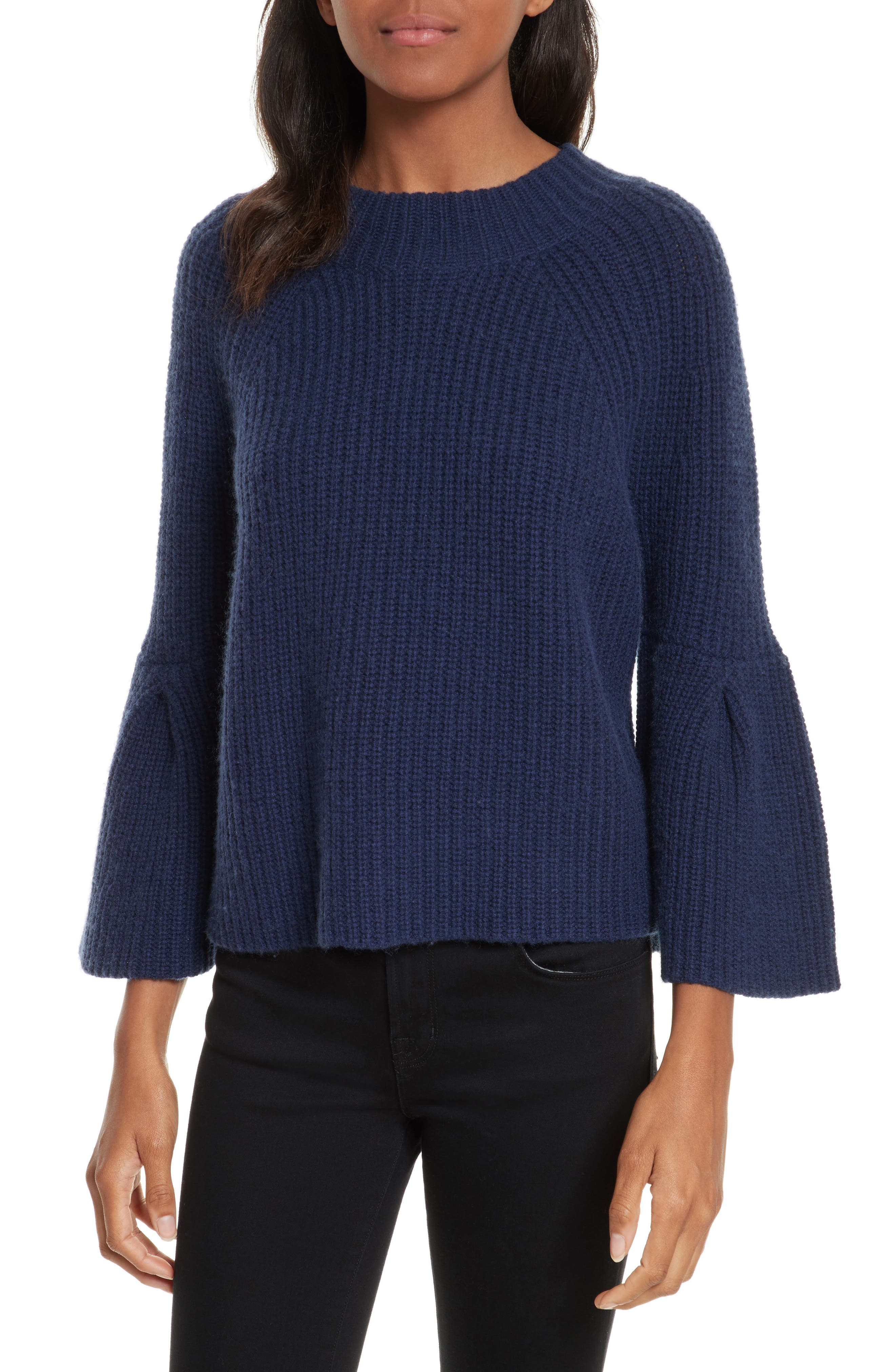 Ingrit Wool & Cashmere Sweater,                         Main,                         color, Deep Navy