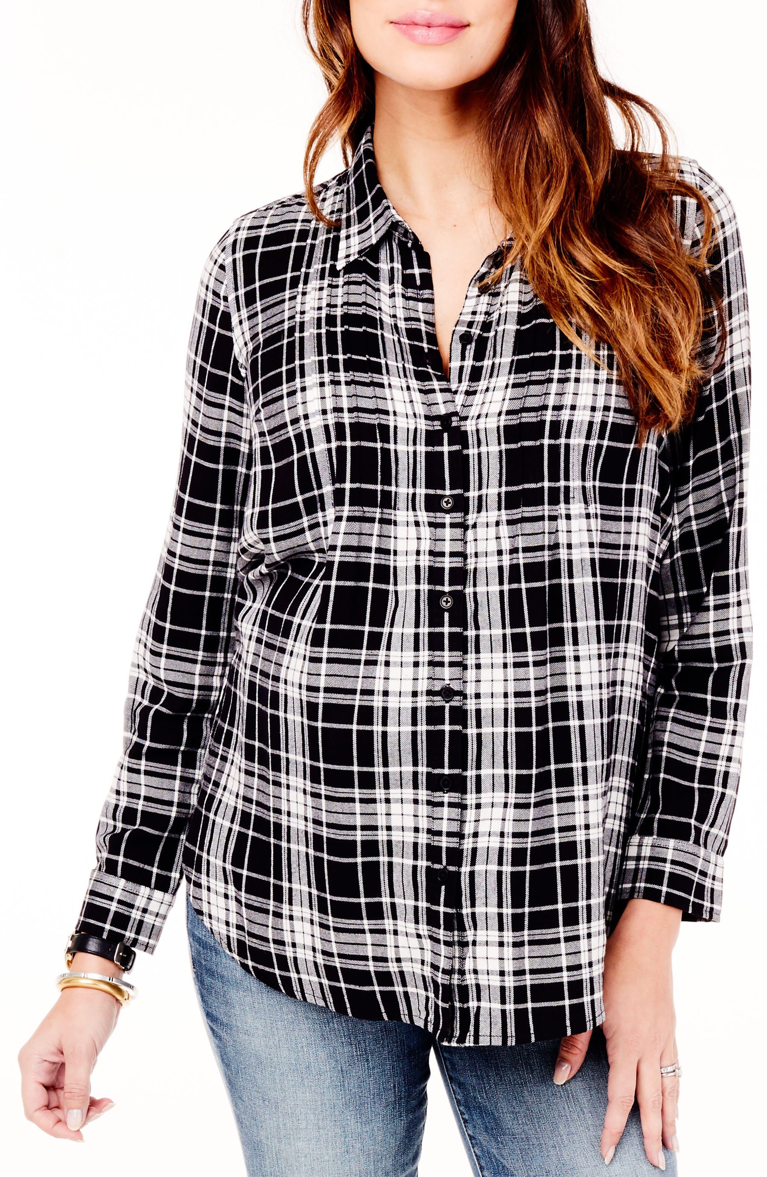 Ingrid & Isabel® Pintuck Maternity Shirt