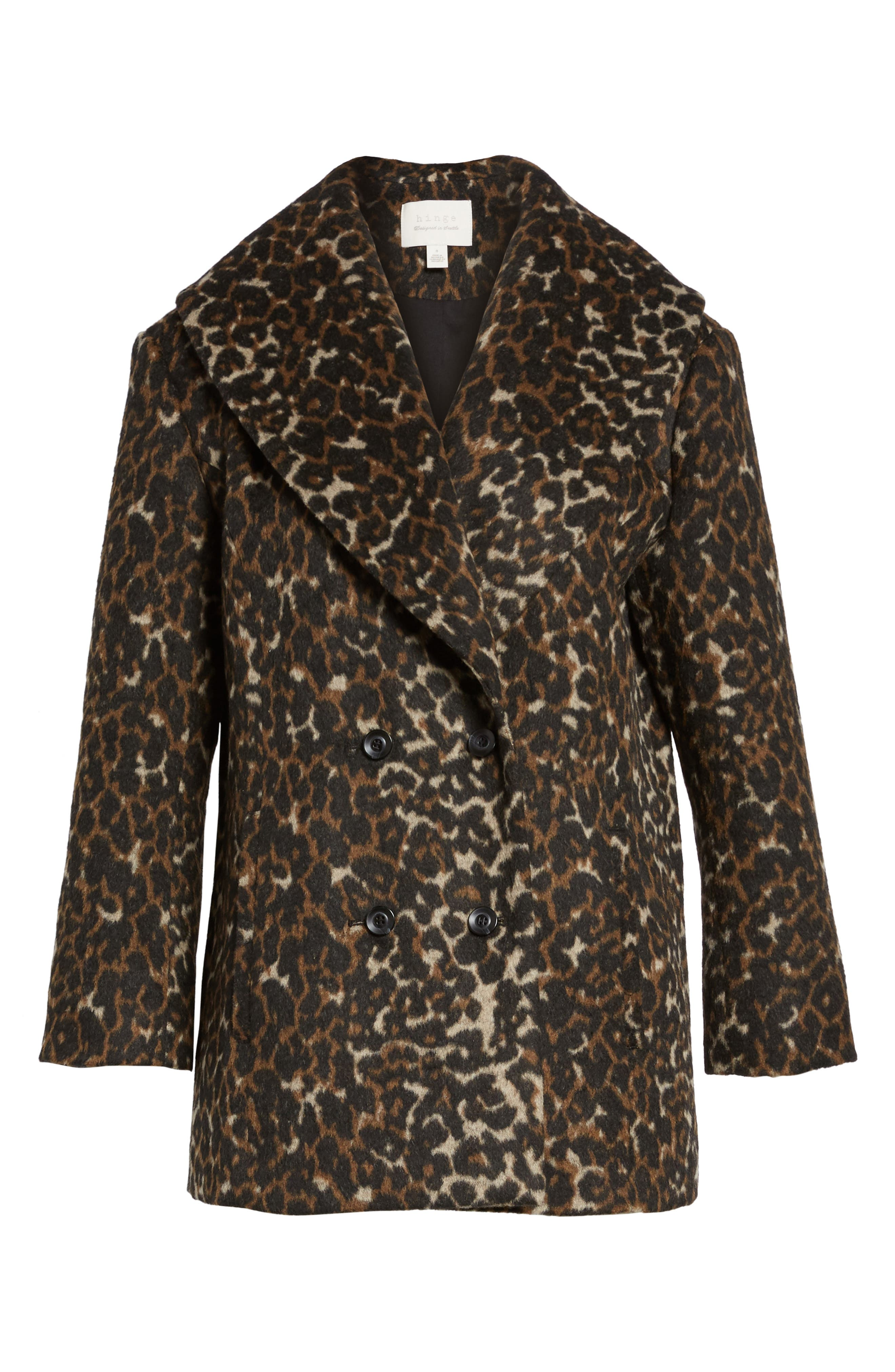 Alternate Image 6  - Hinge Animal Print Coat