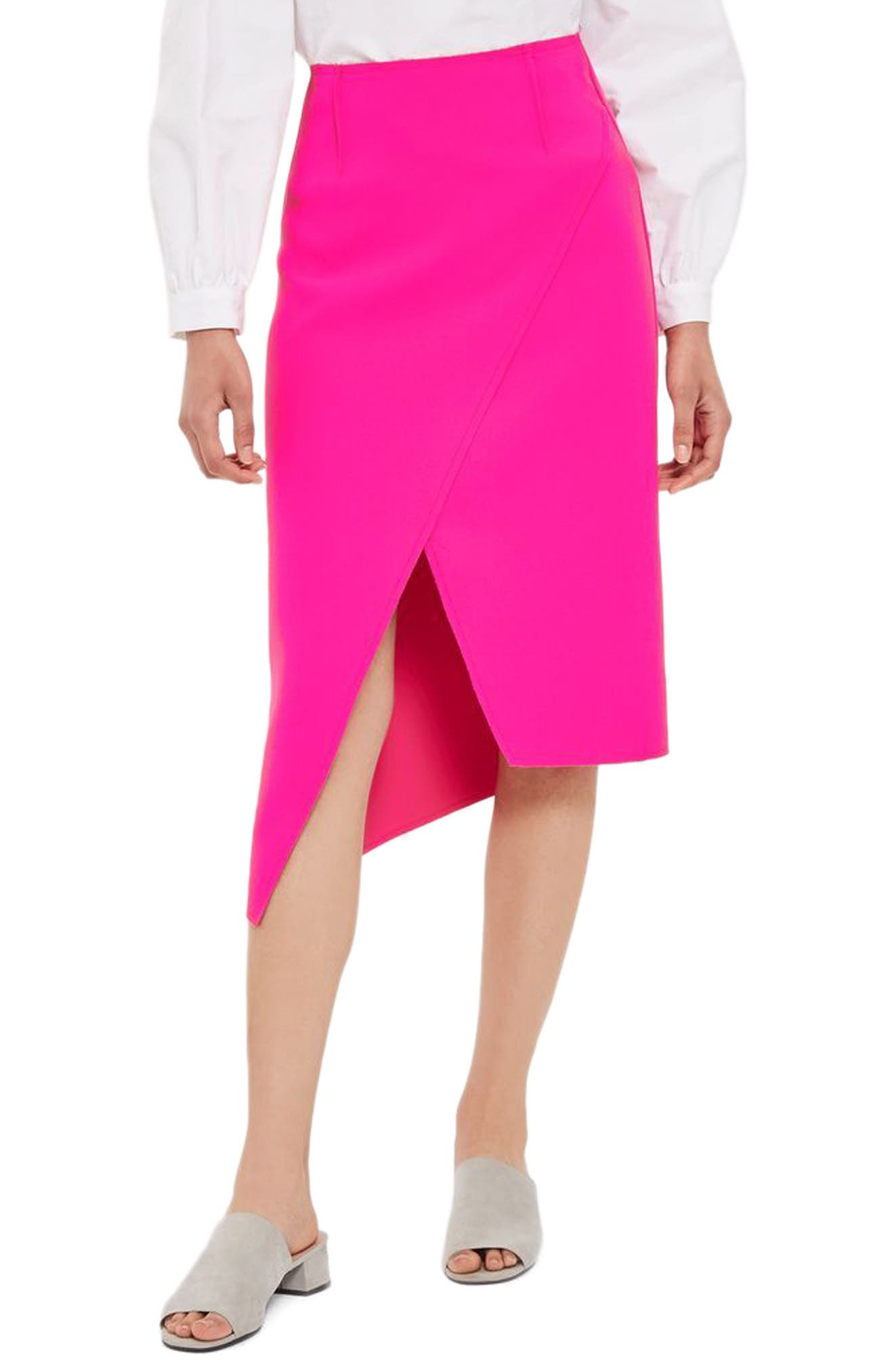 Topshop Asymmetical Faux Wrap Skirt