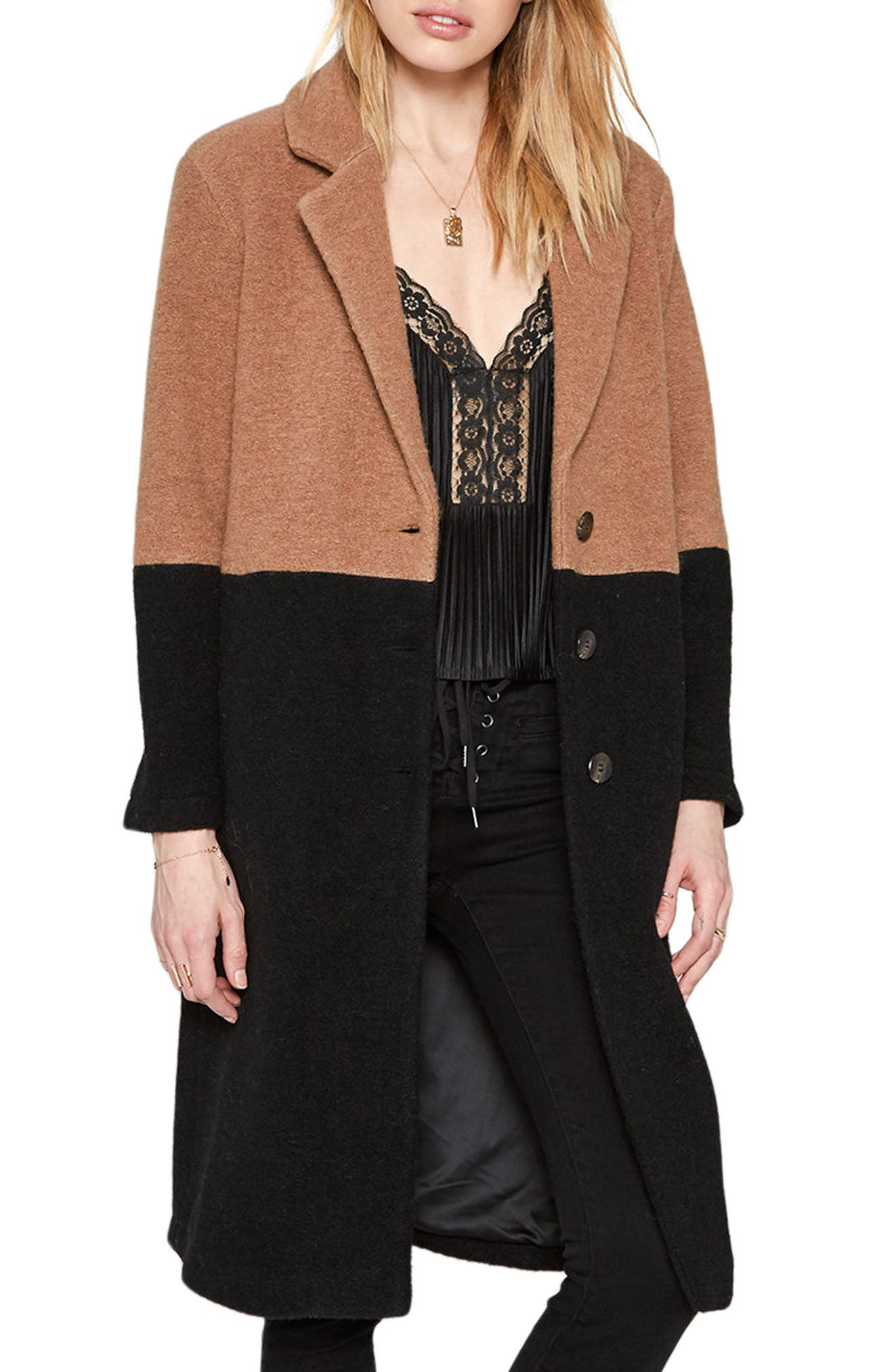 Amuse Society Monroe Wool Blend Coat