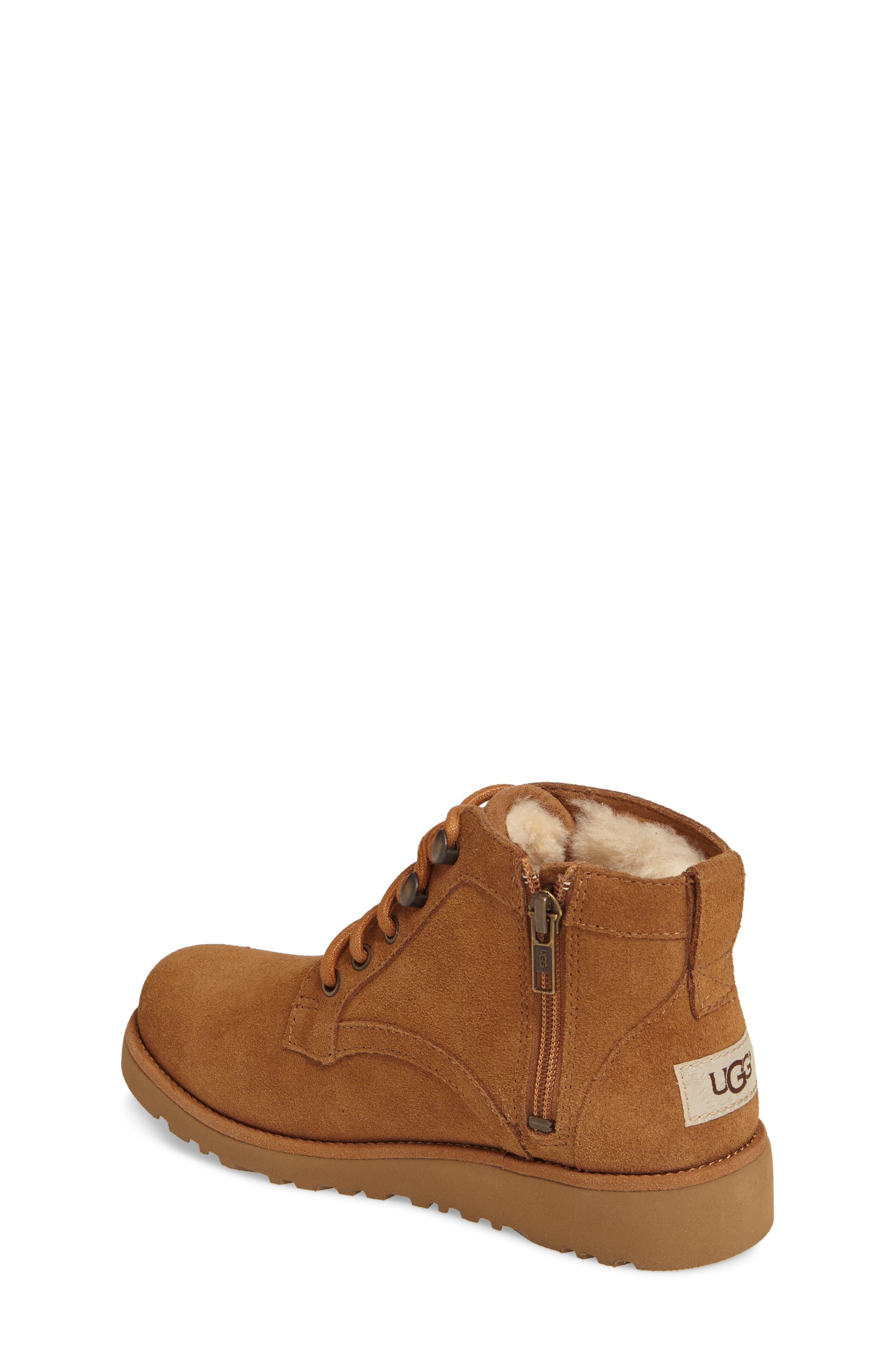 Alternate Image 2  - UGG® Banan Water-Resistant Genuine Shearling Boot (Little Kid & Big Kid)