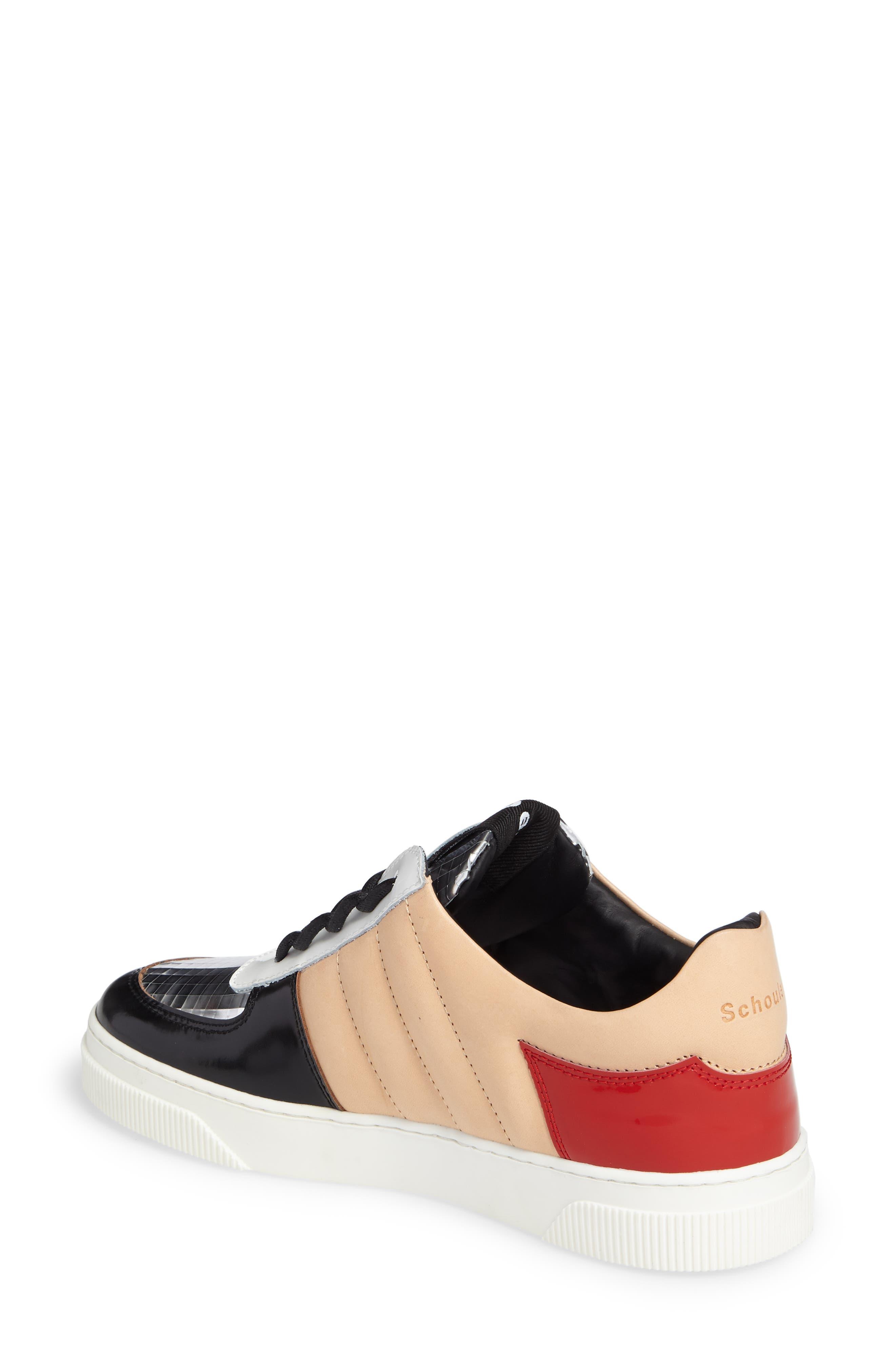 Sneaker,                             Alternate thumbnail 2, color,                             Beige/ Silver