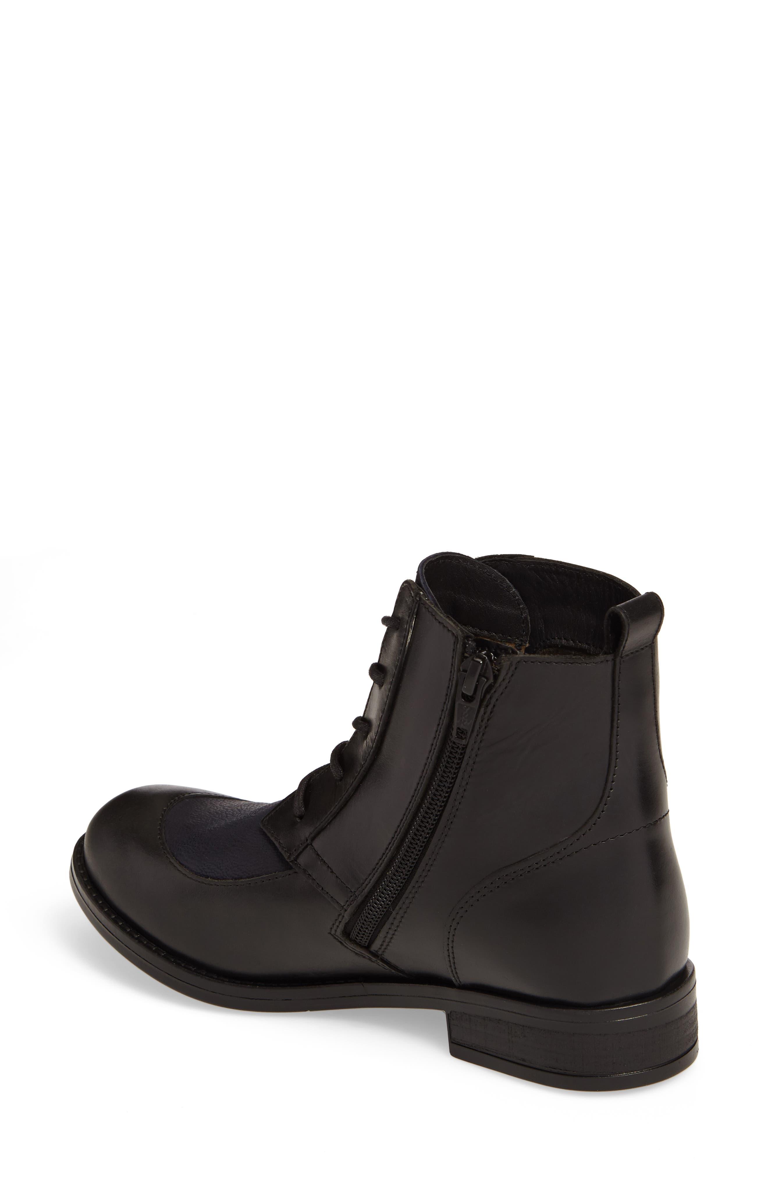 Arty Boot,                             Alternate thumbnail 2, color,                             Black/ Ocean Leather