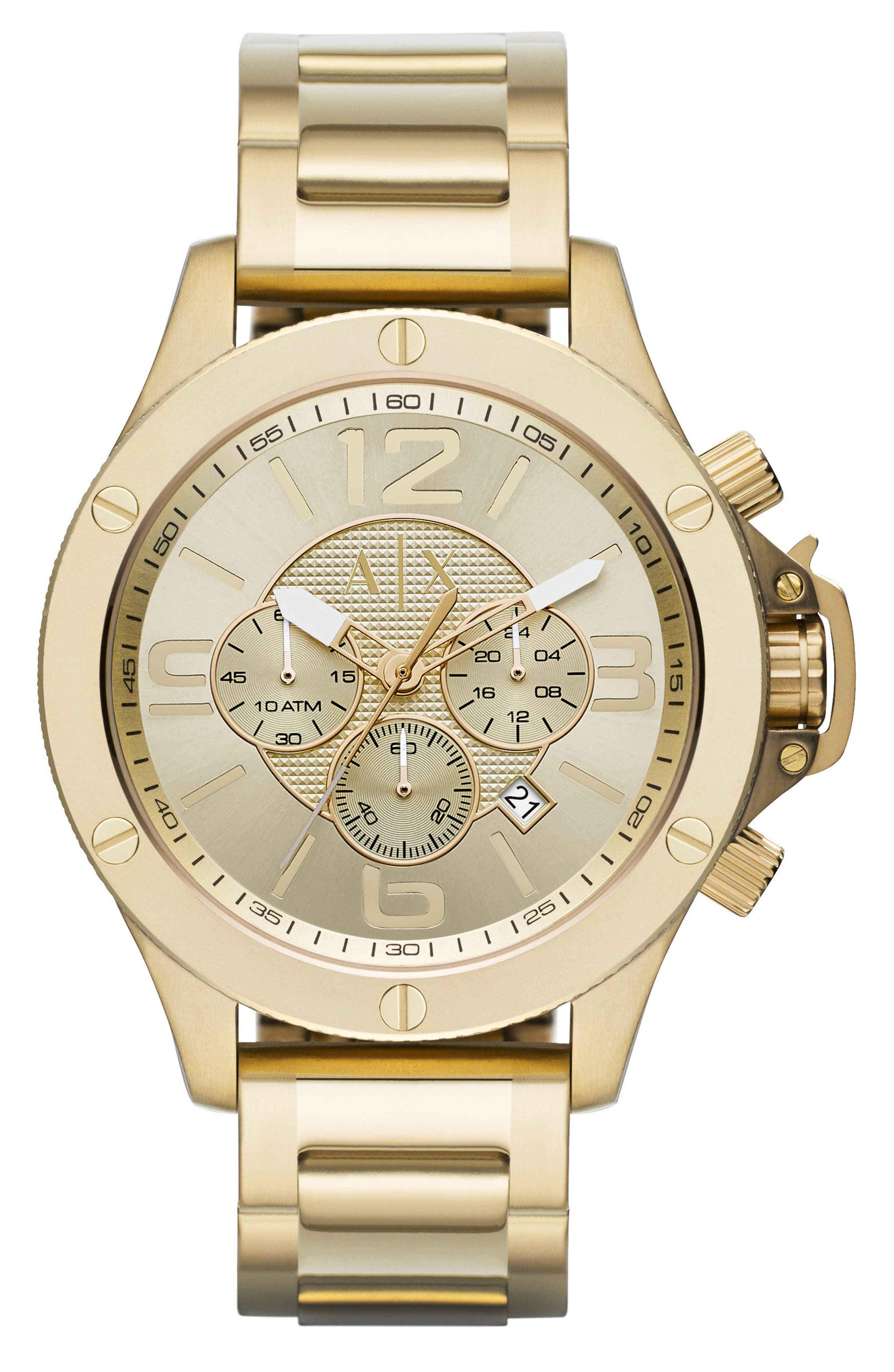 Alternate Image 1 Selected - AX Armani Exchange Chronograph Bracelet Watch, 48mm