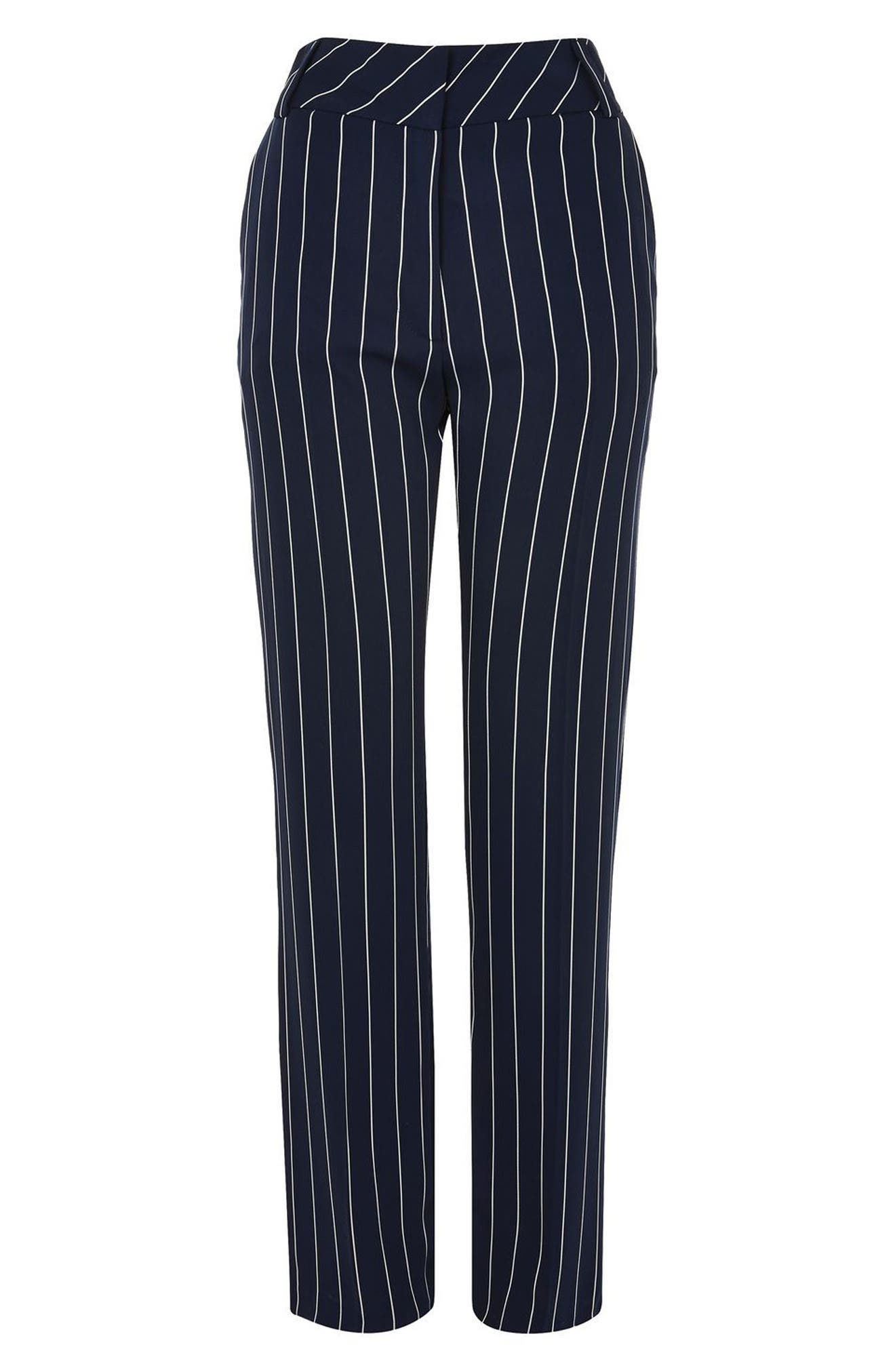 Alternate Image 2  - Topshop Stripe Wide Leg Trousers