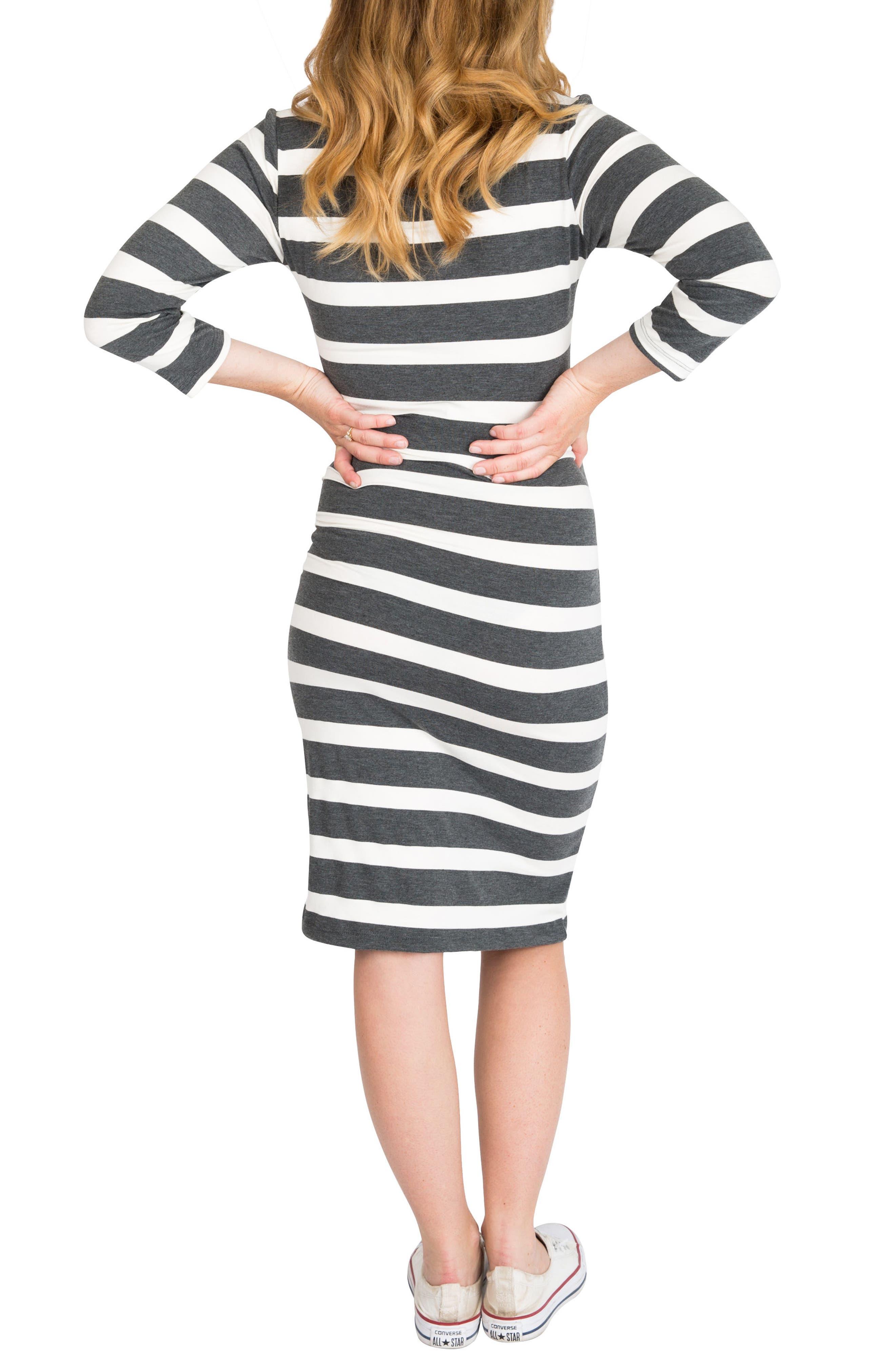 Alternate Image 2  - Nom Maternity Snap Maternity/Nursing Dress
