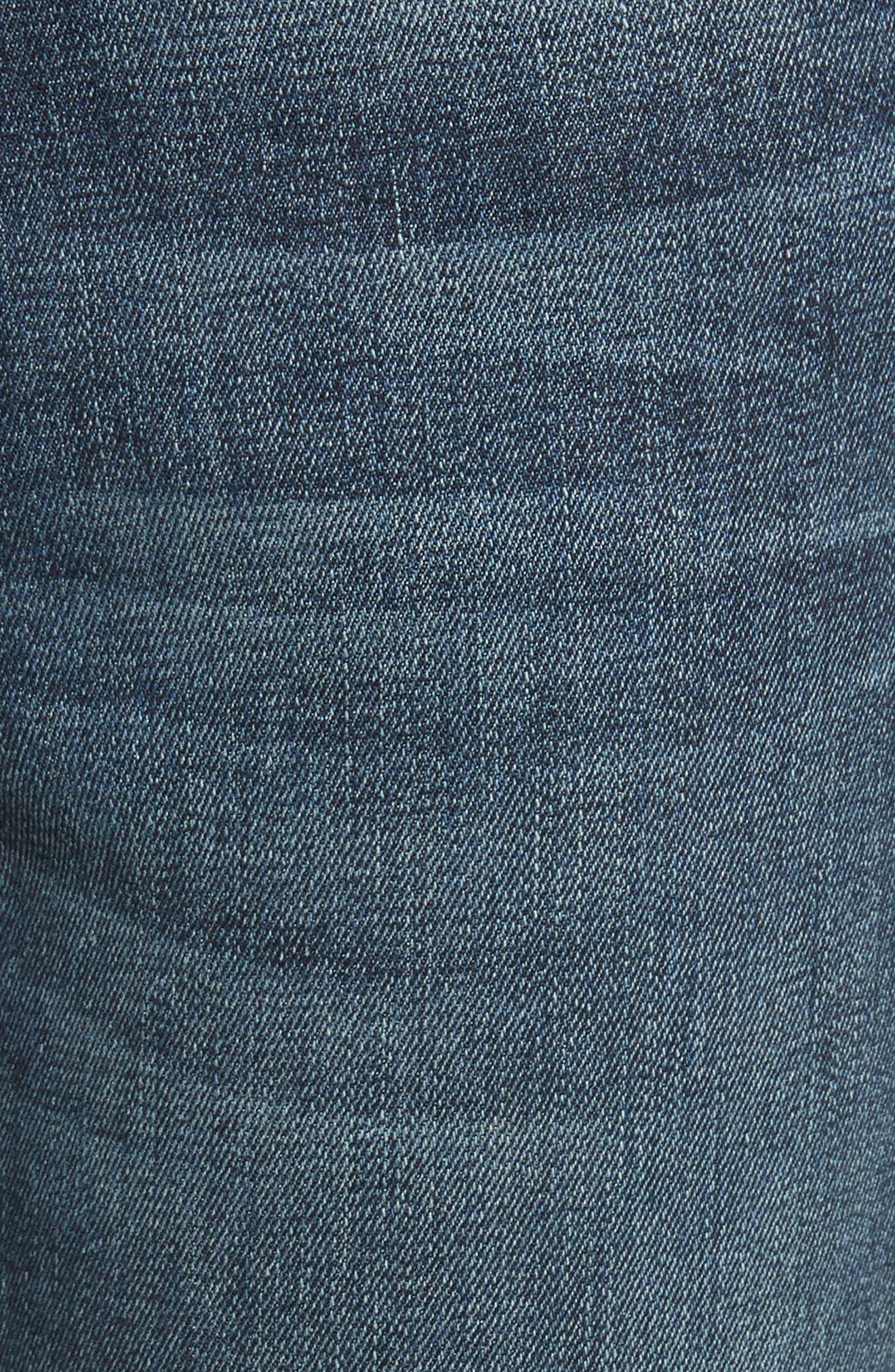 Le High Slit Ankle Skinny Jeans,                             Alternate thumbnail 5, color,                             Pelton