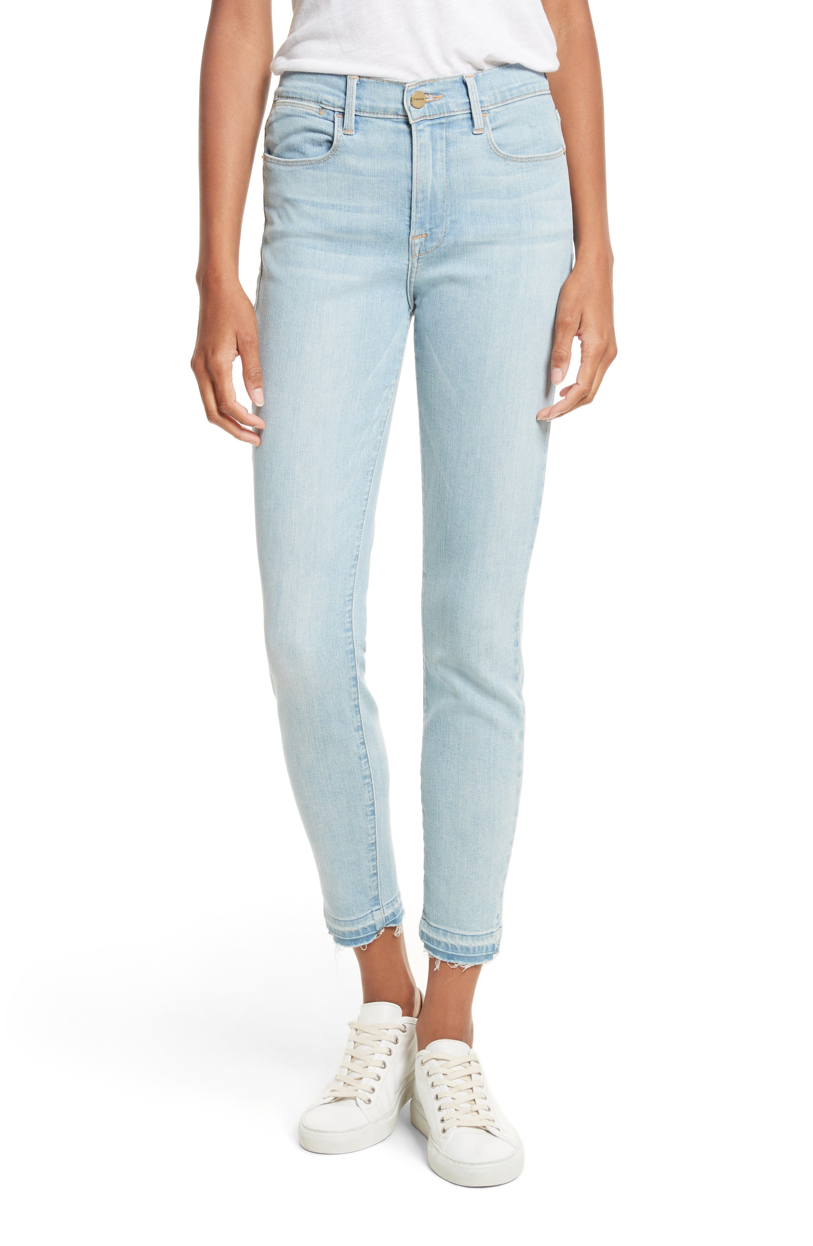 Le High Skinny Crop Jeans,                             Main thumbnail 1, color,                             Prospect