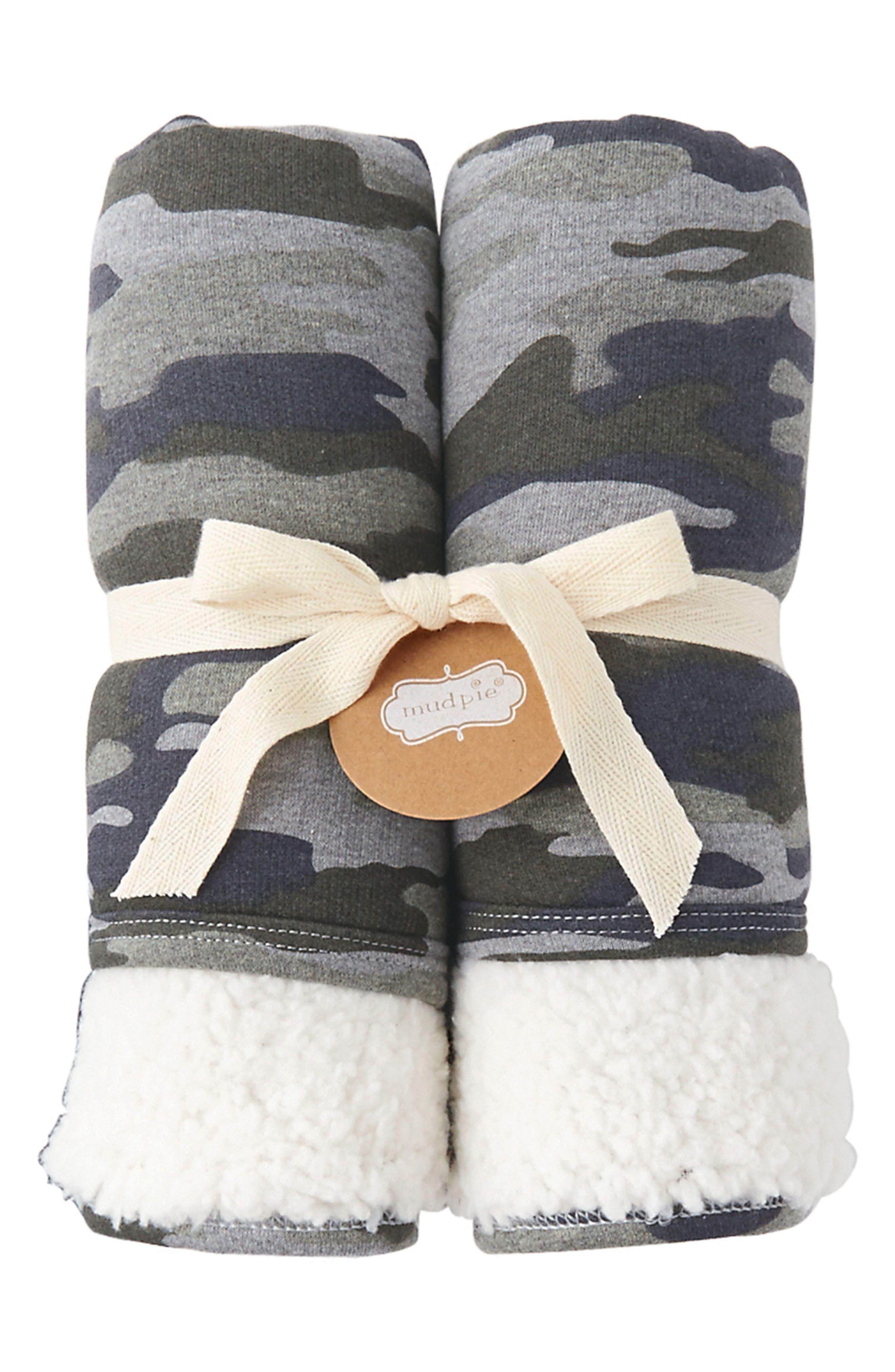 Mud Pie Camo Fleece Blanket