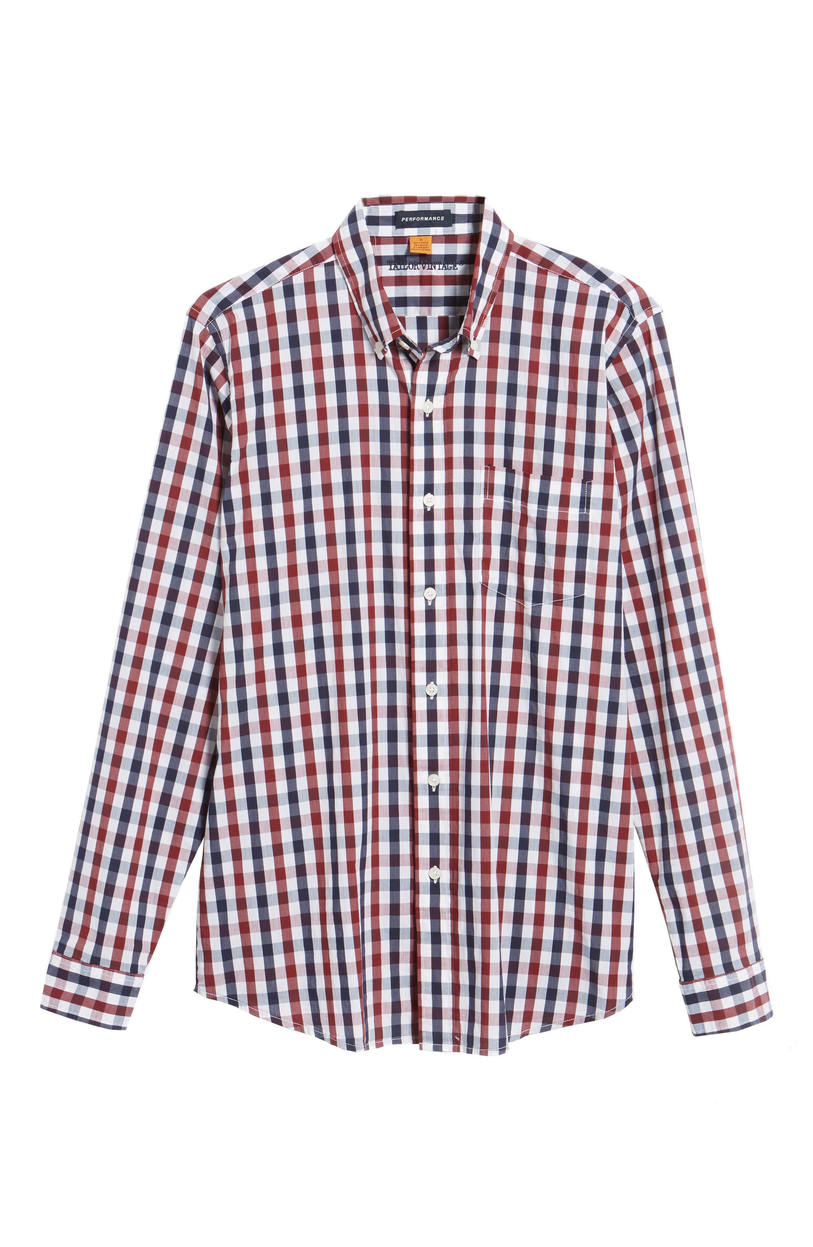 Alternate Image 6  - Tailor Vintage Regular Fit Performance Sport Shirt