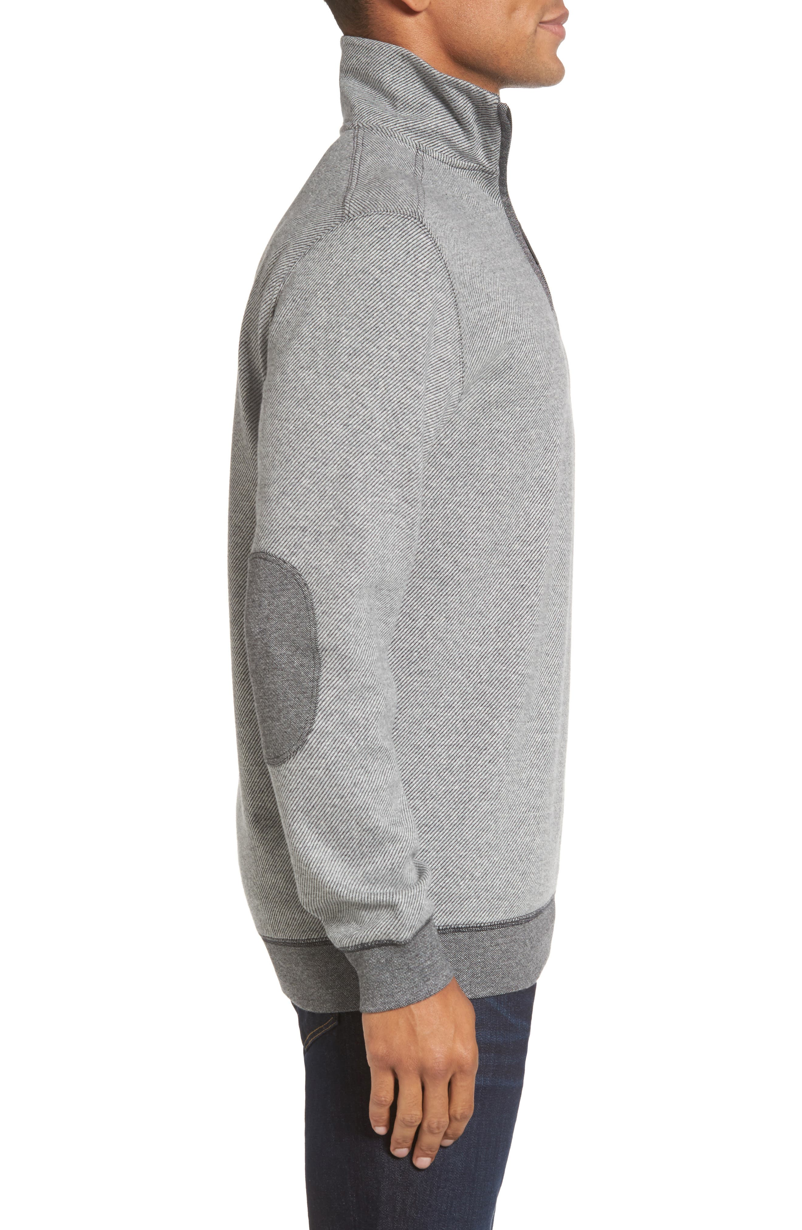 Meyer Desert Quarter Zip Pullover,                             Alternate thumbnail 3, color,                             Smoke