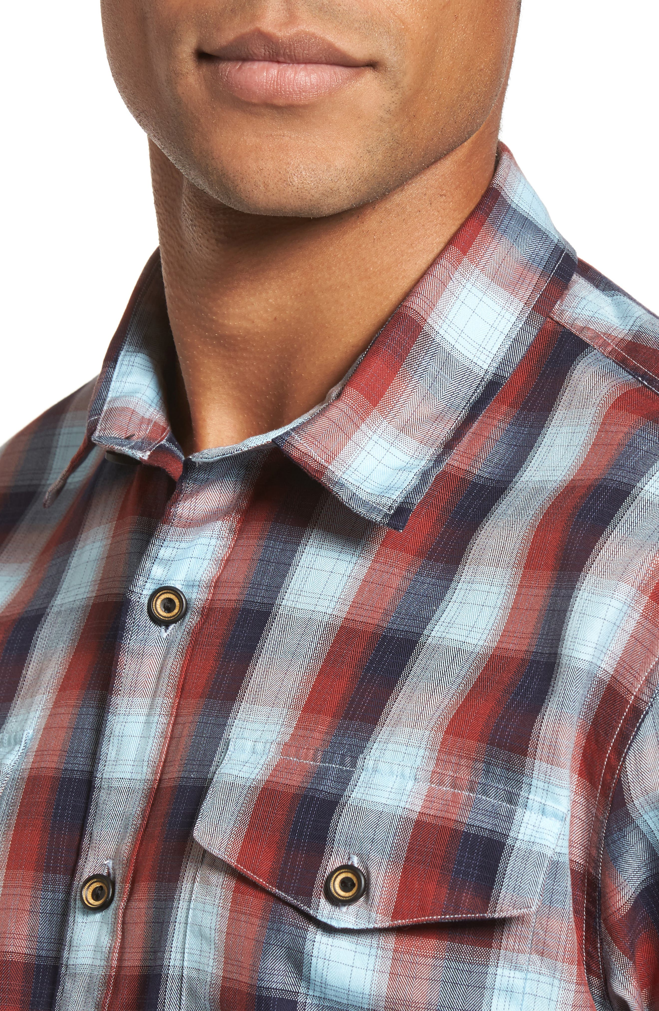 Alternate Image 4  - Coastaoro Redford Check Flannel Shirt