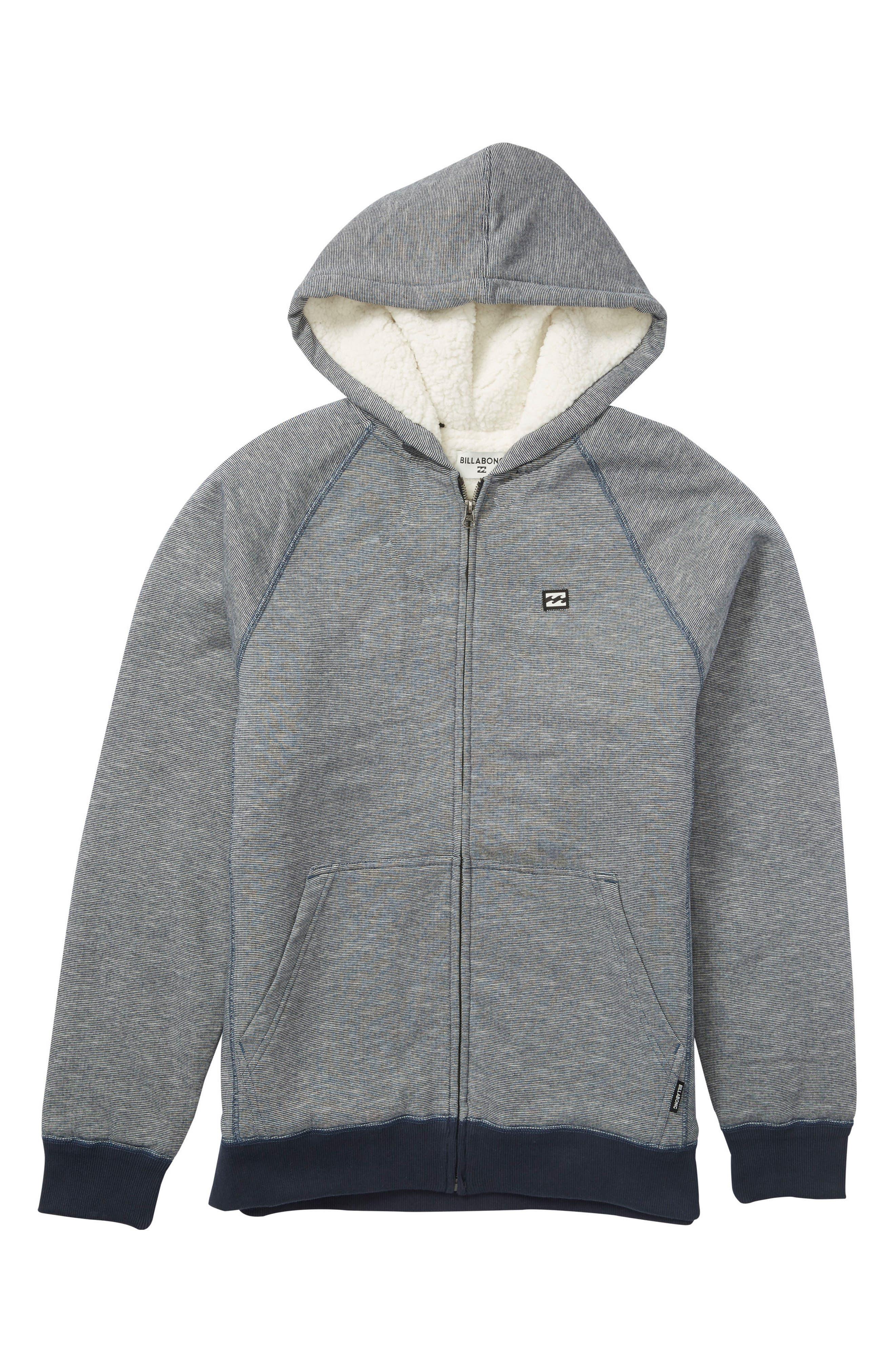 Alternate Image 1 Selected - Billabong Balance Fleece Lined Zip Hoodie (Toddler Boys & Little Boys)