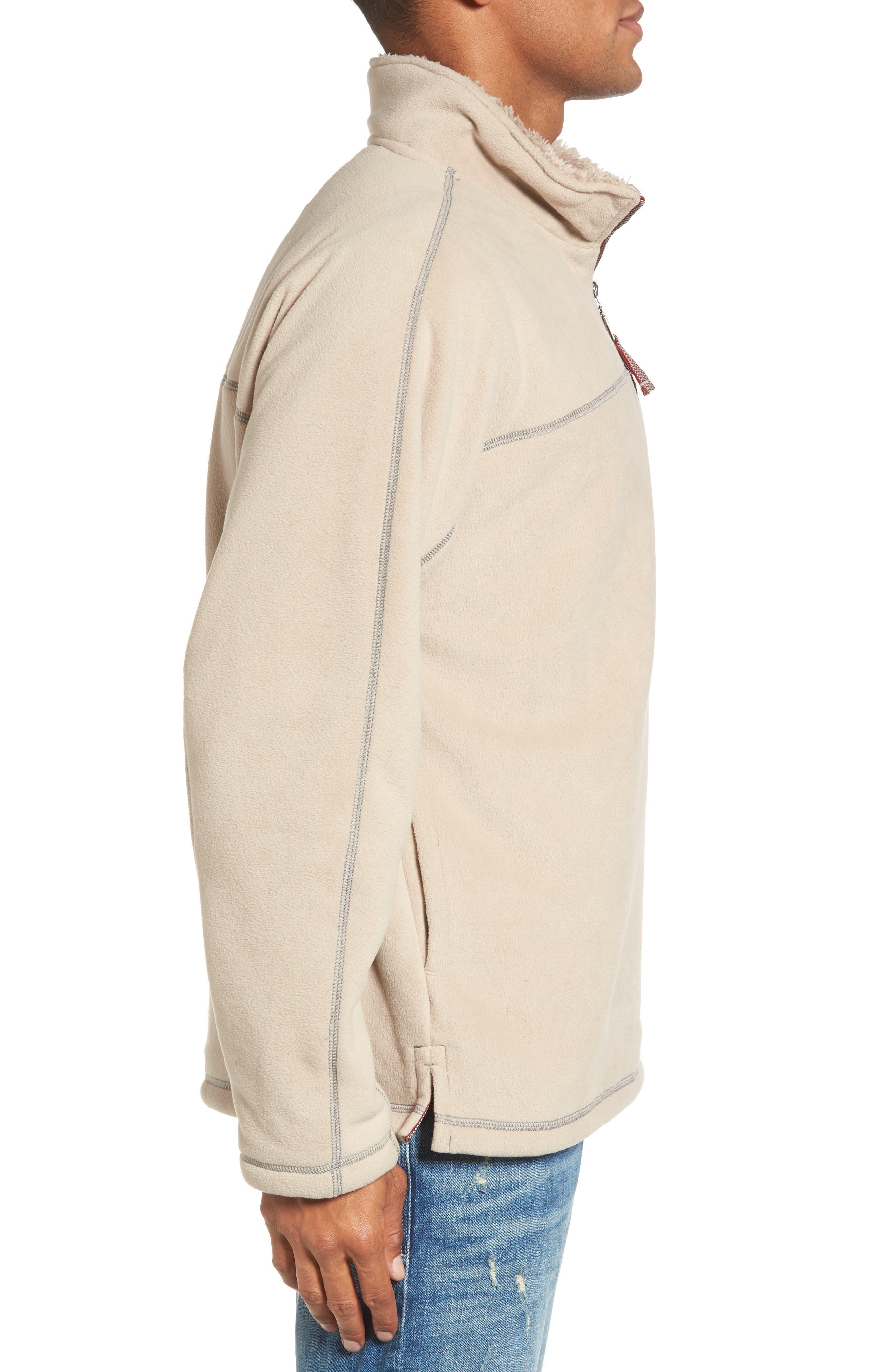 Bonded Polar Fleece Lined Pullover,                             Alternate thumbnail 3, color,                             Sand