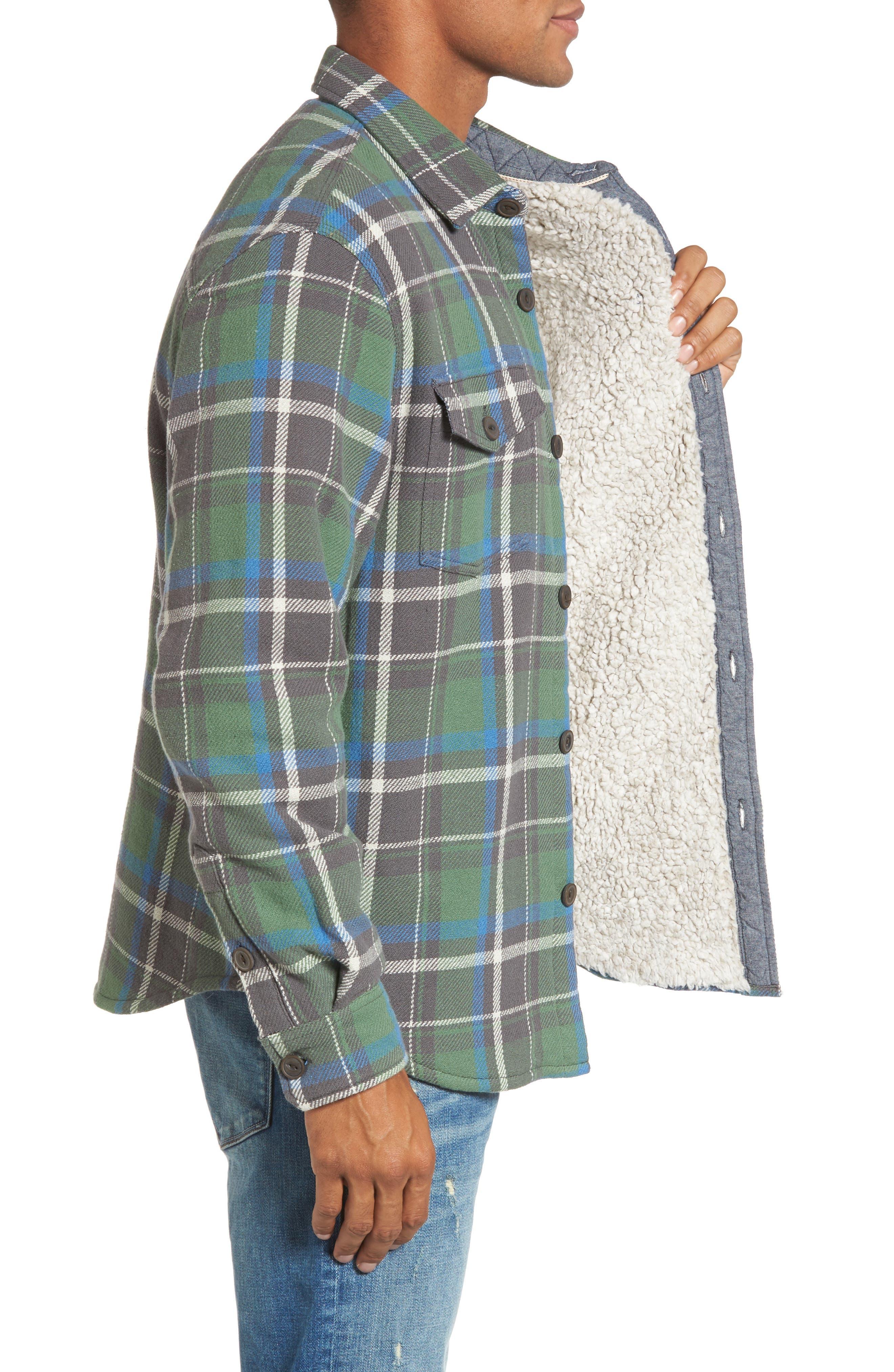 Alternate Image 3  - True Grit Summit Hunter Plaid Faux Shearling Lined Shirt Jacket