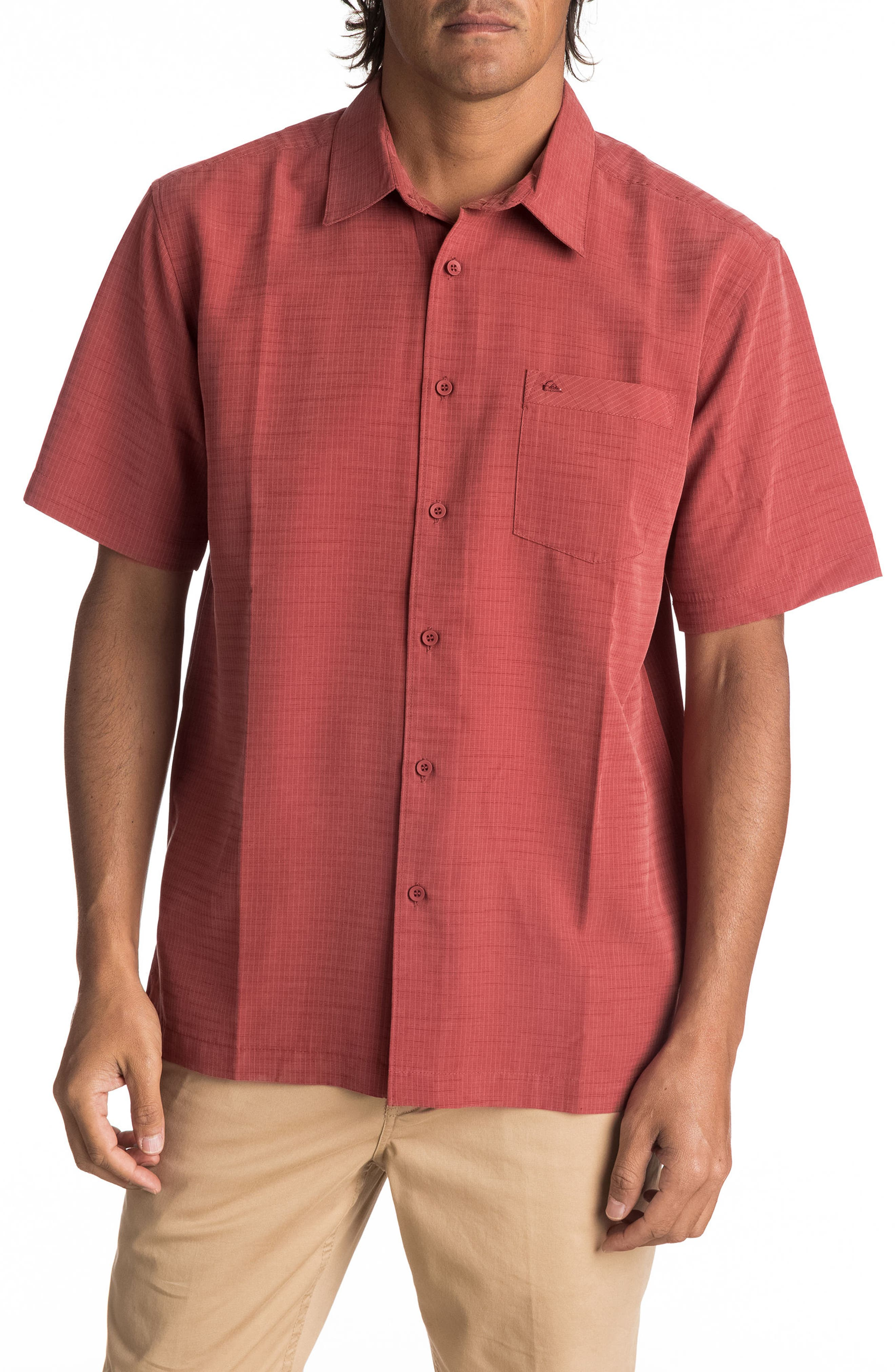 Alternate Image 1 Selected - Quiksilver Waterman Collection 'Centinela 4' Short Sleeve Sport Shirt