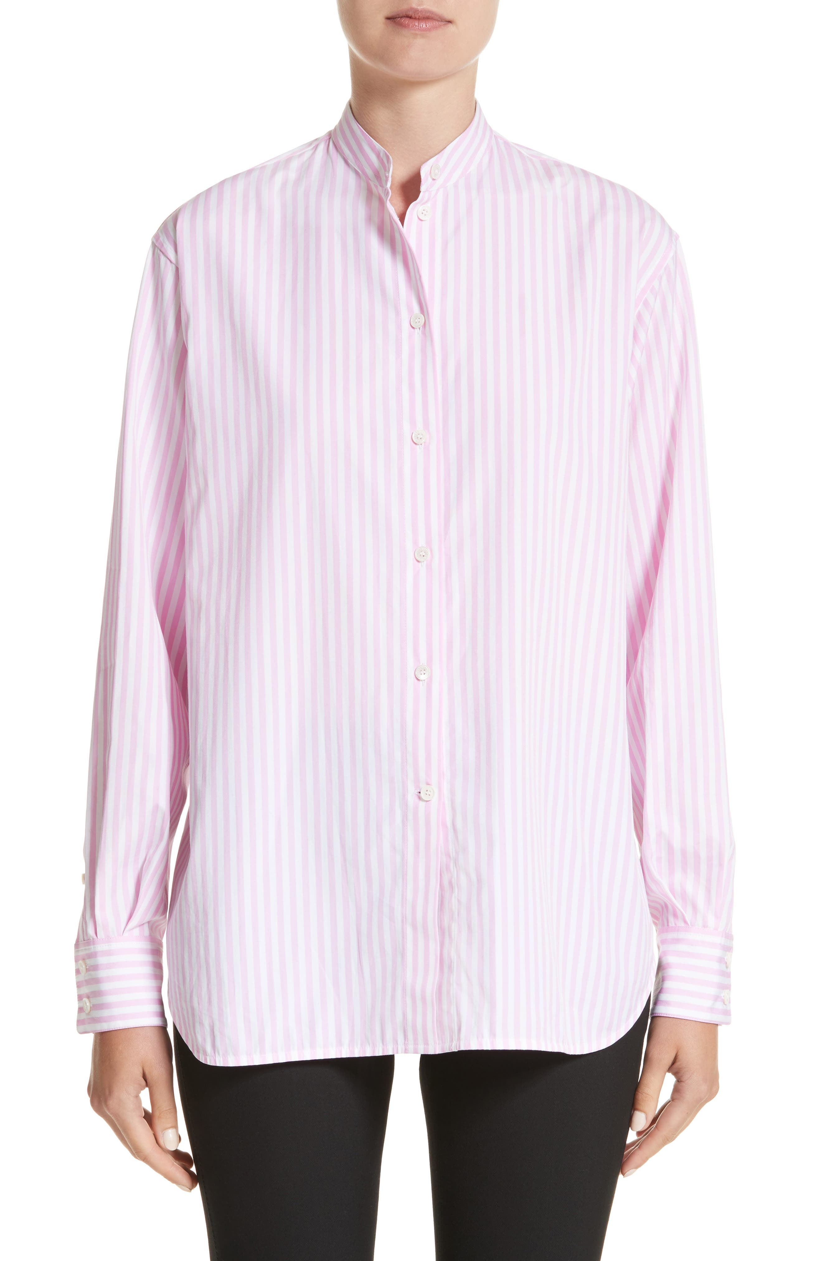 Main Image - Victoria Beckham Cotton Grandad Shirt