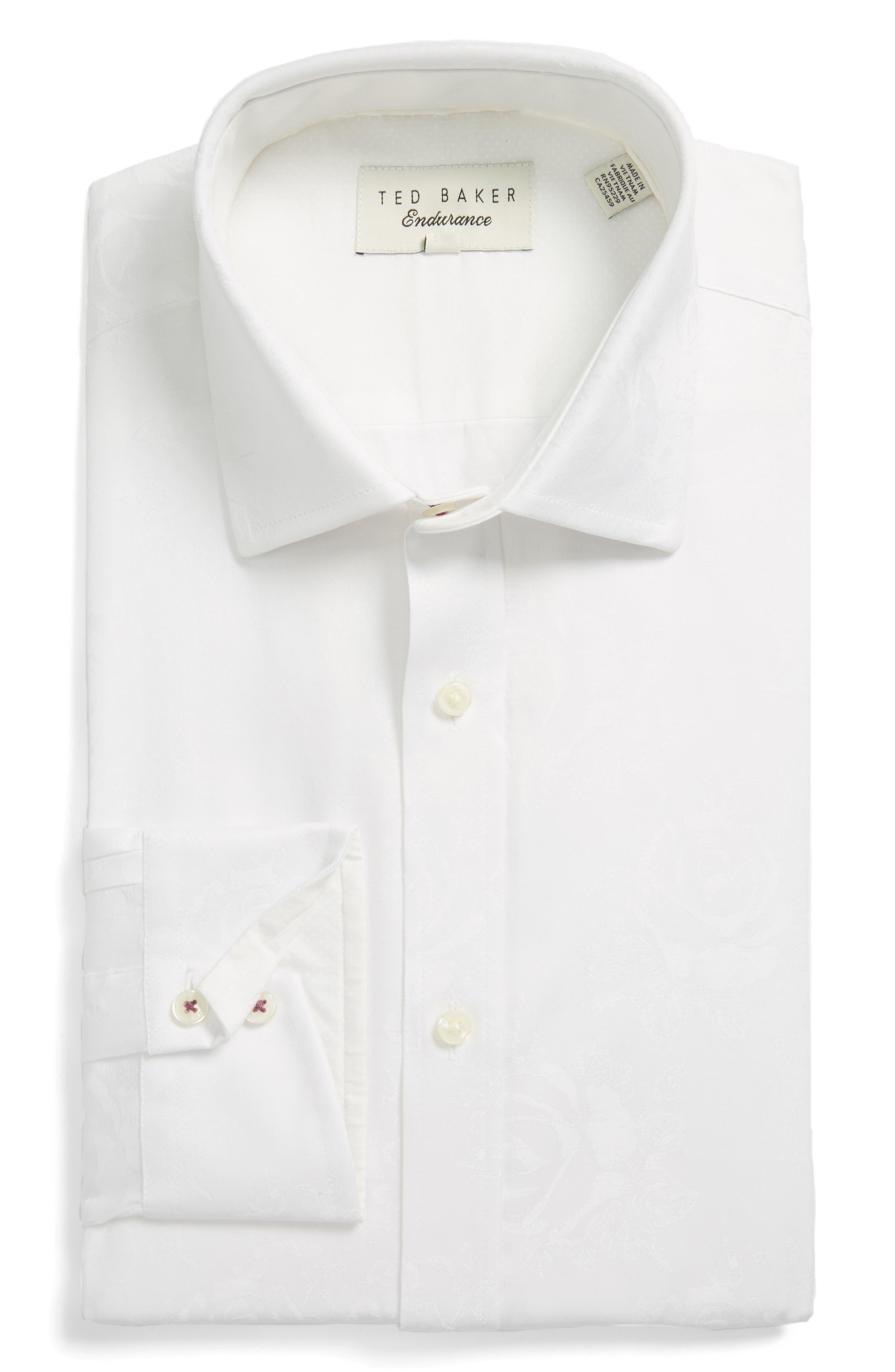 Main Image - Ted Baker London Trim Fit Floral Dress Shirt