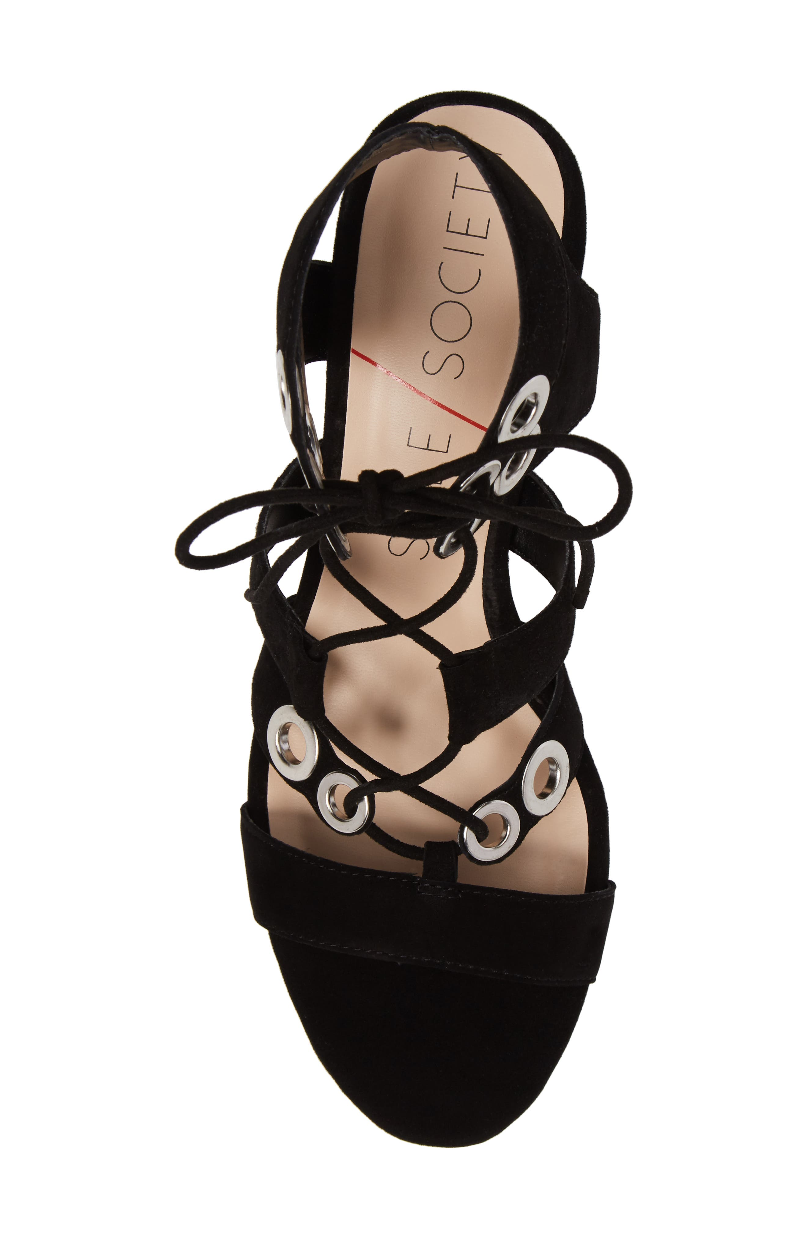 Rosemary Lace-Up Sandal,                             Alternate thumbnail 5, color,                             Black