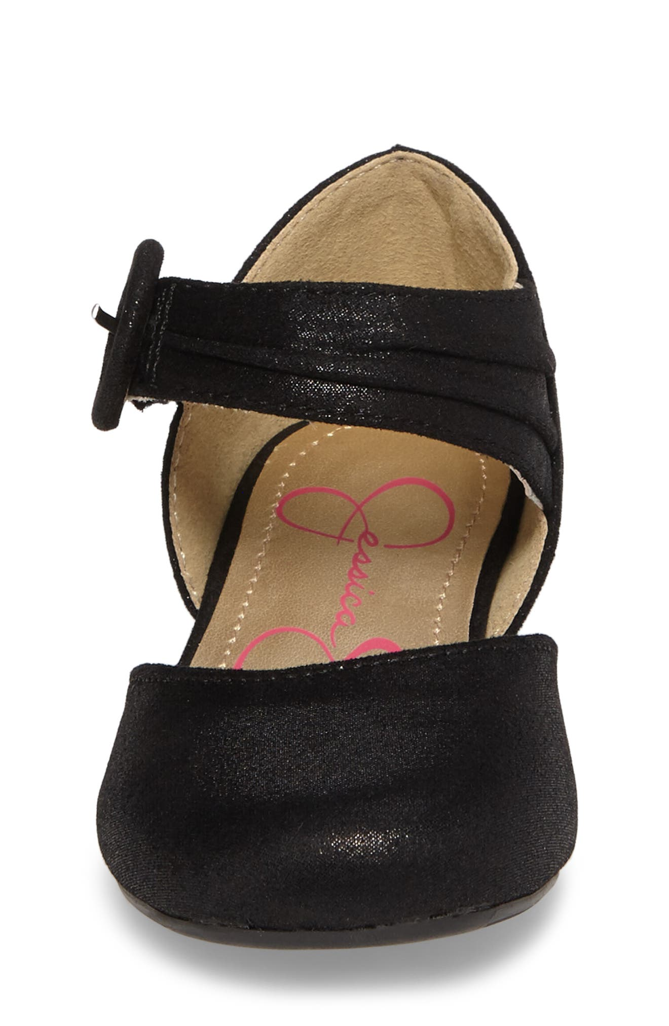 Tiana Shimmery Pump,                             Alternate thumbnail 4, color,                             Black Suede