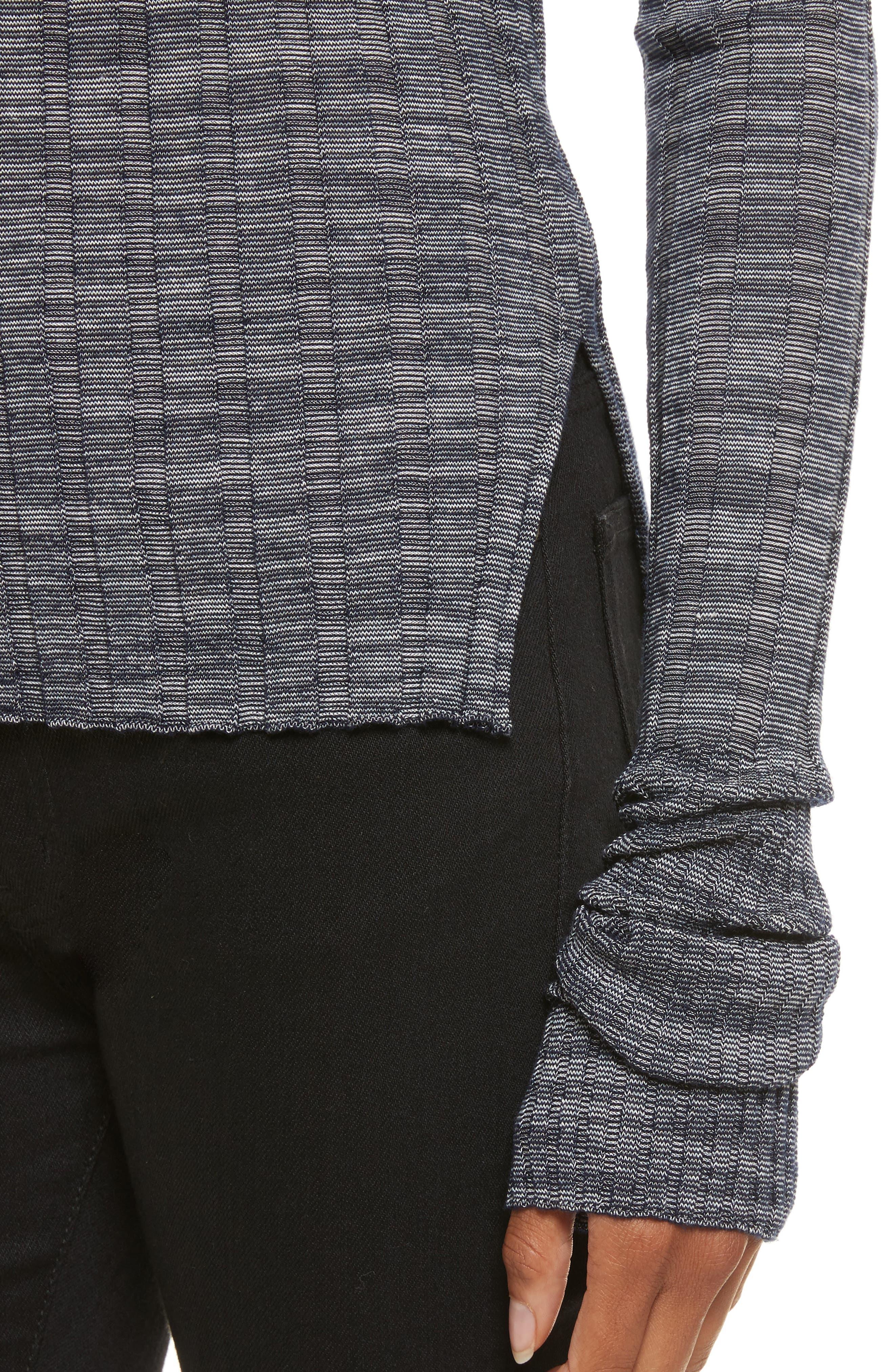 Alternate Image 4  - Theory Wide Ribbed Metallic Merino Wool Sweater