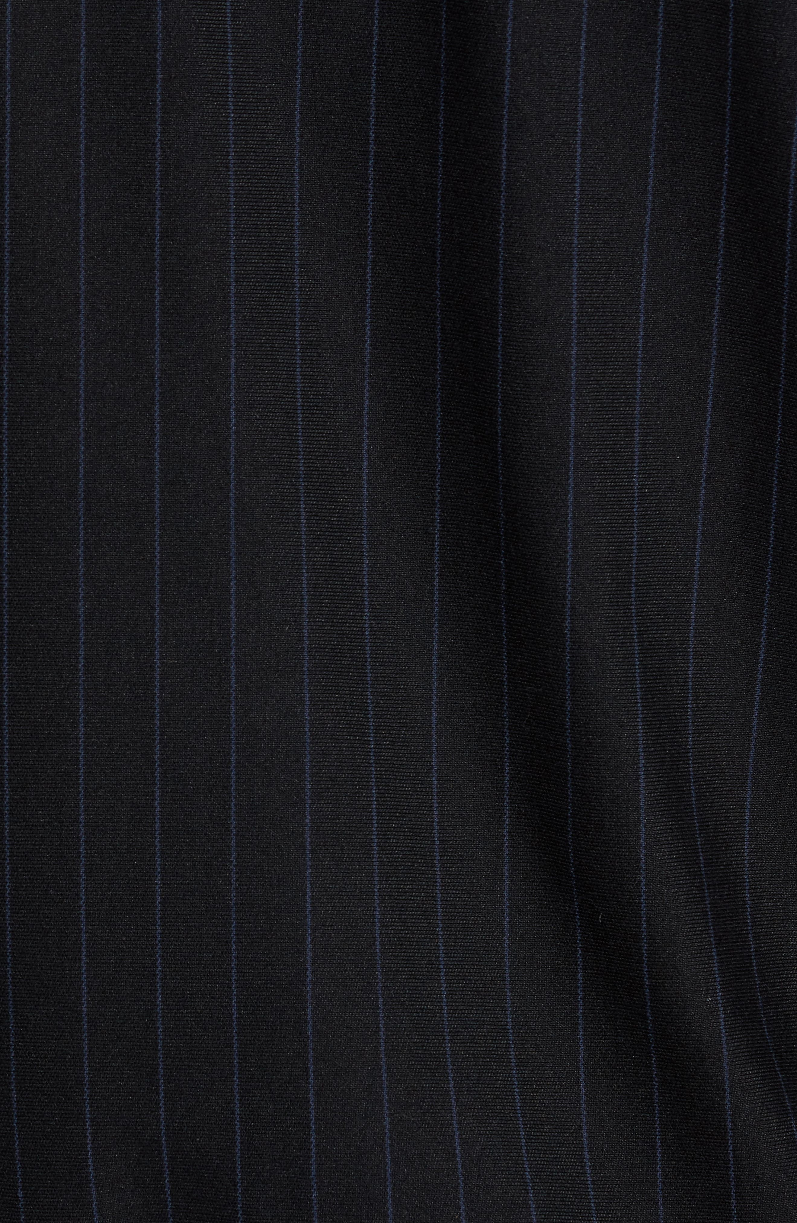 Pinstripe Track Jacket,                             Alternate thumbnail 4, color,                             Black