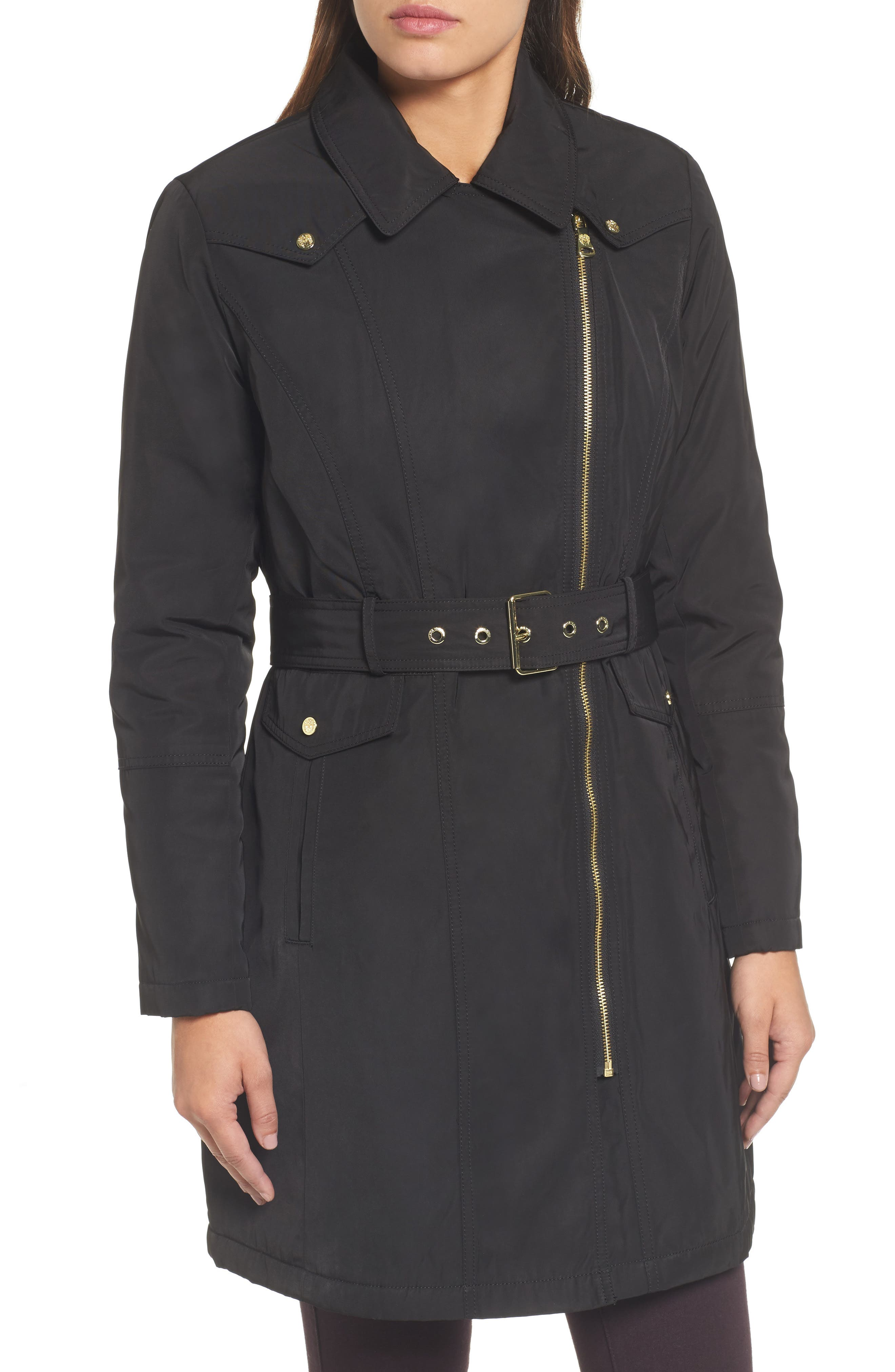 Alternate Image 4  - Vince Camuto Belted Raincoat