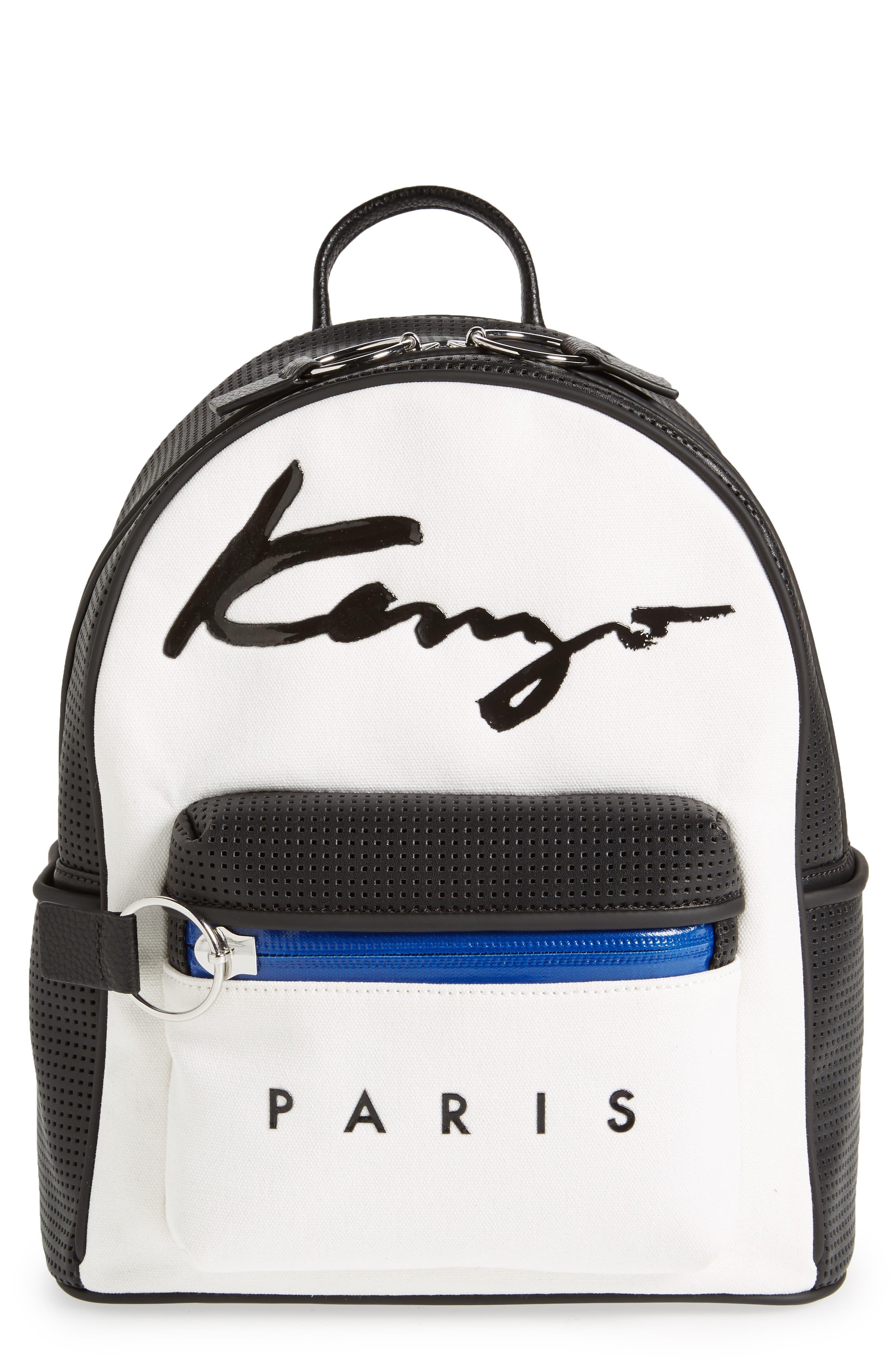 Signature Backpack,                             Main thumbnail 1, color,                             White
