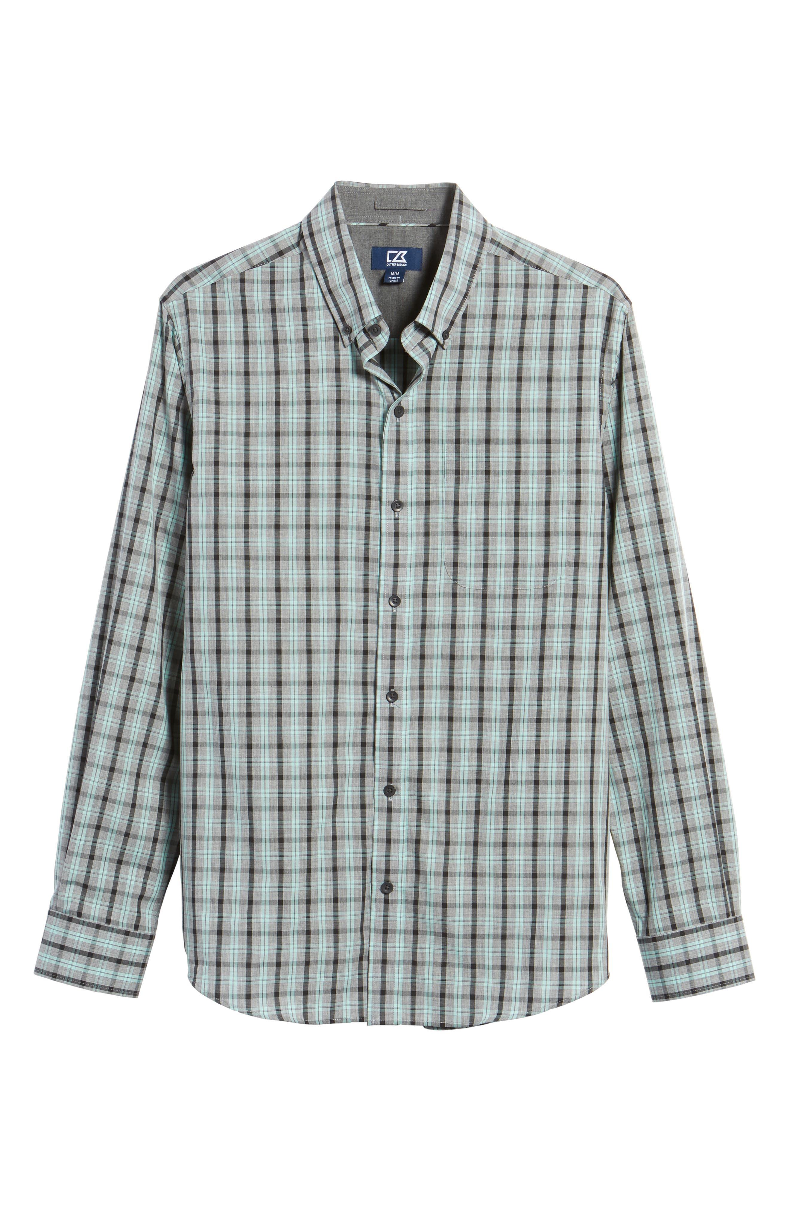 Alternate Image 6  - Cutter & Buck Davis Non-Iron Plaid Sport Shirt
