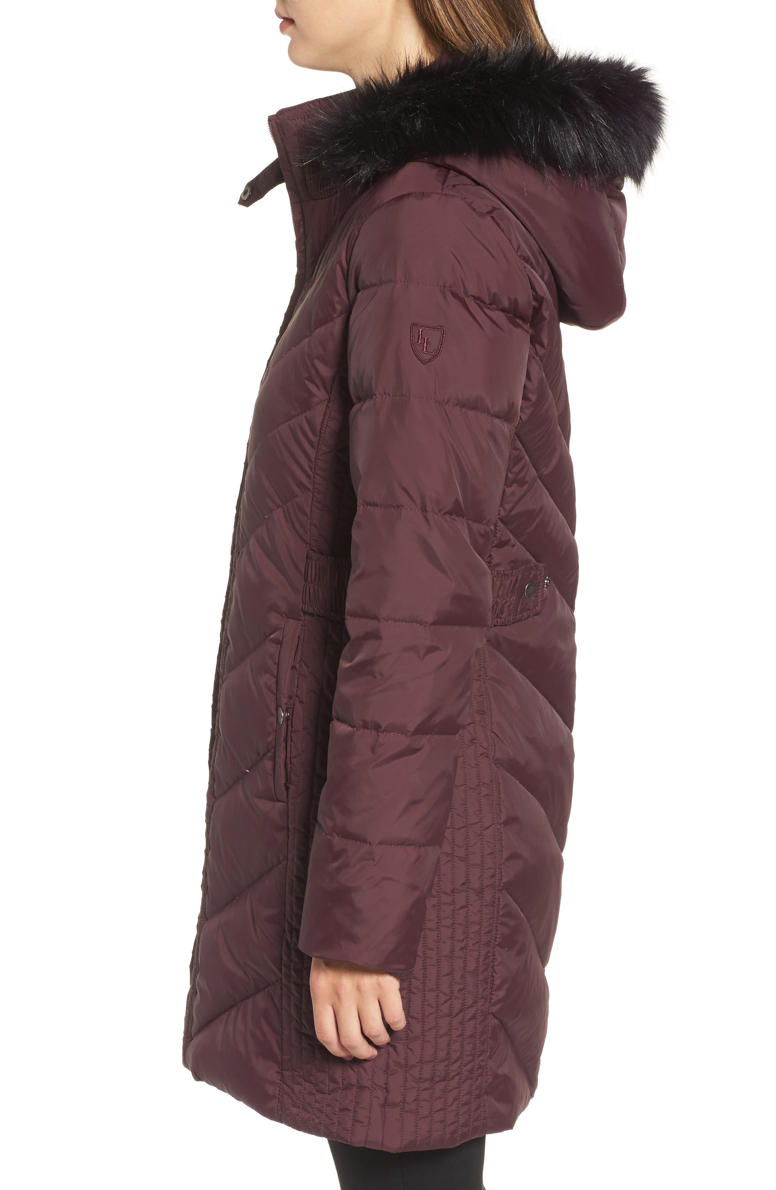 Alternate Image 3  - Larry Levine Faux Fur Trim Hooded Jacket
