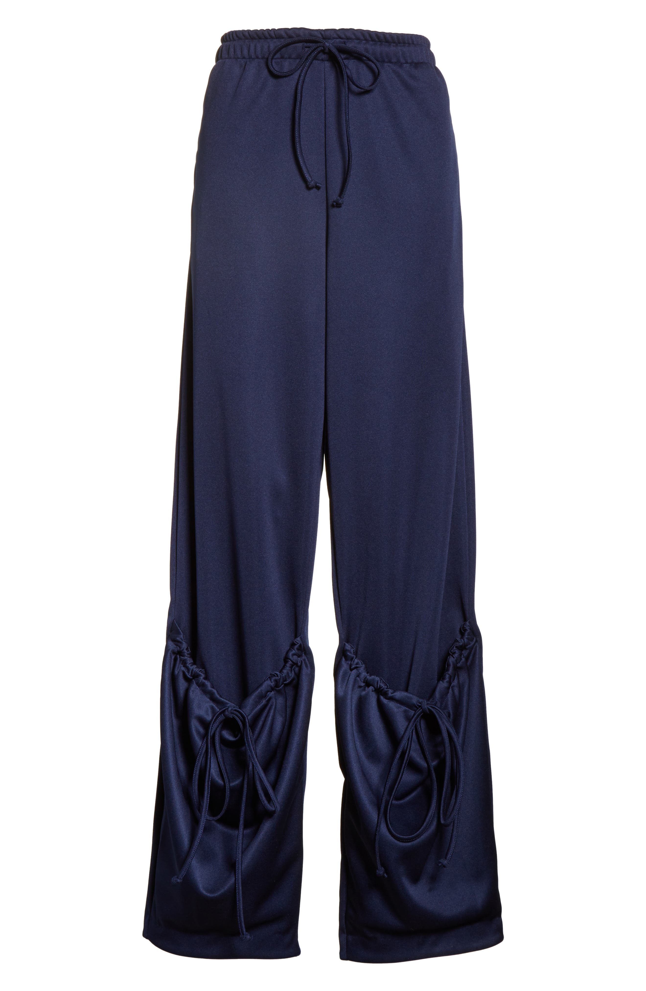 J.W.ANDERSON Jersey Pocket Hem Trousers,                             Alternate thumbnail 7, color,                             Midnight Blue