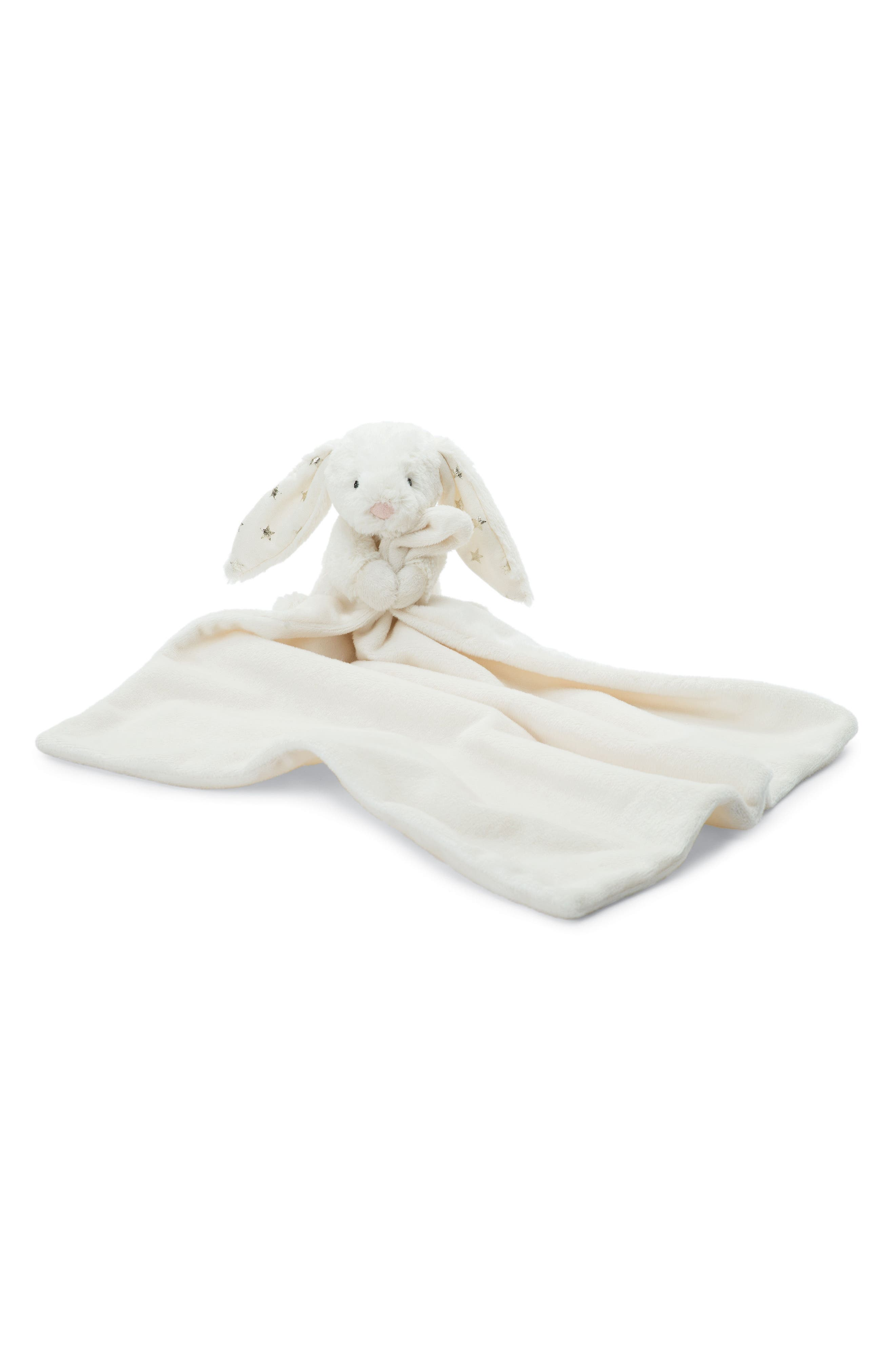 Twinkle Bunny Soother Blanket,                             Main thumbnail 1, color,                             Cream