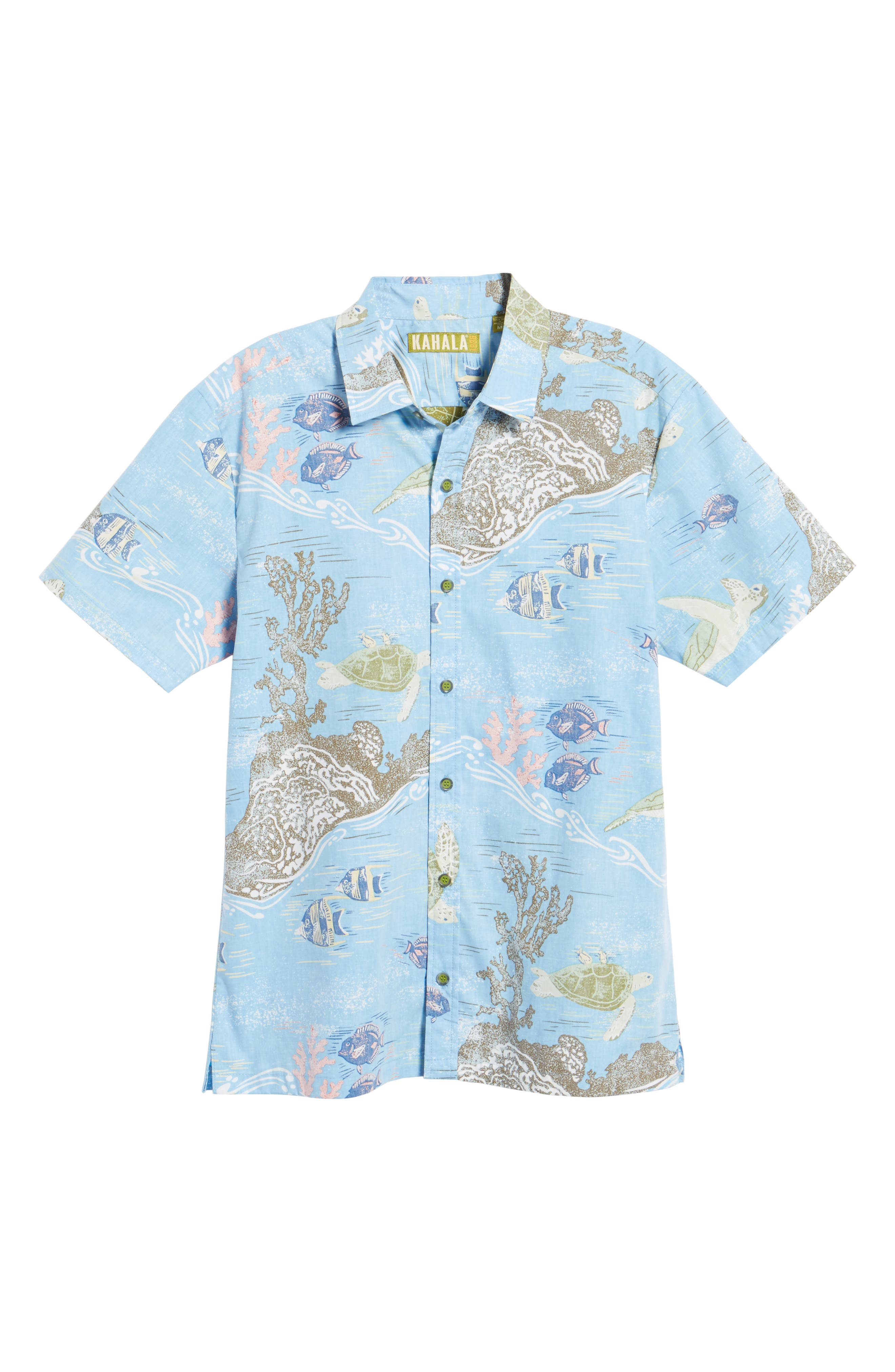 Alternate Image 6  - Kahala Laupapa Slim Fit Camp Shirt