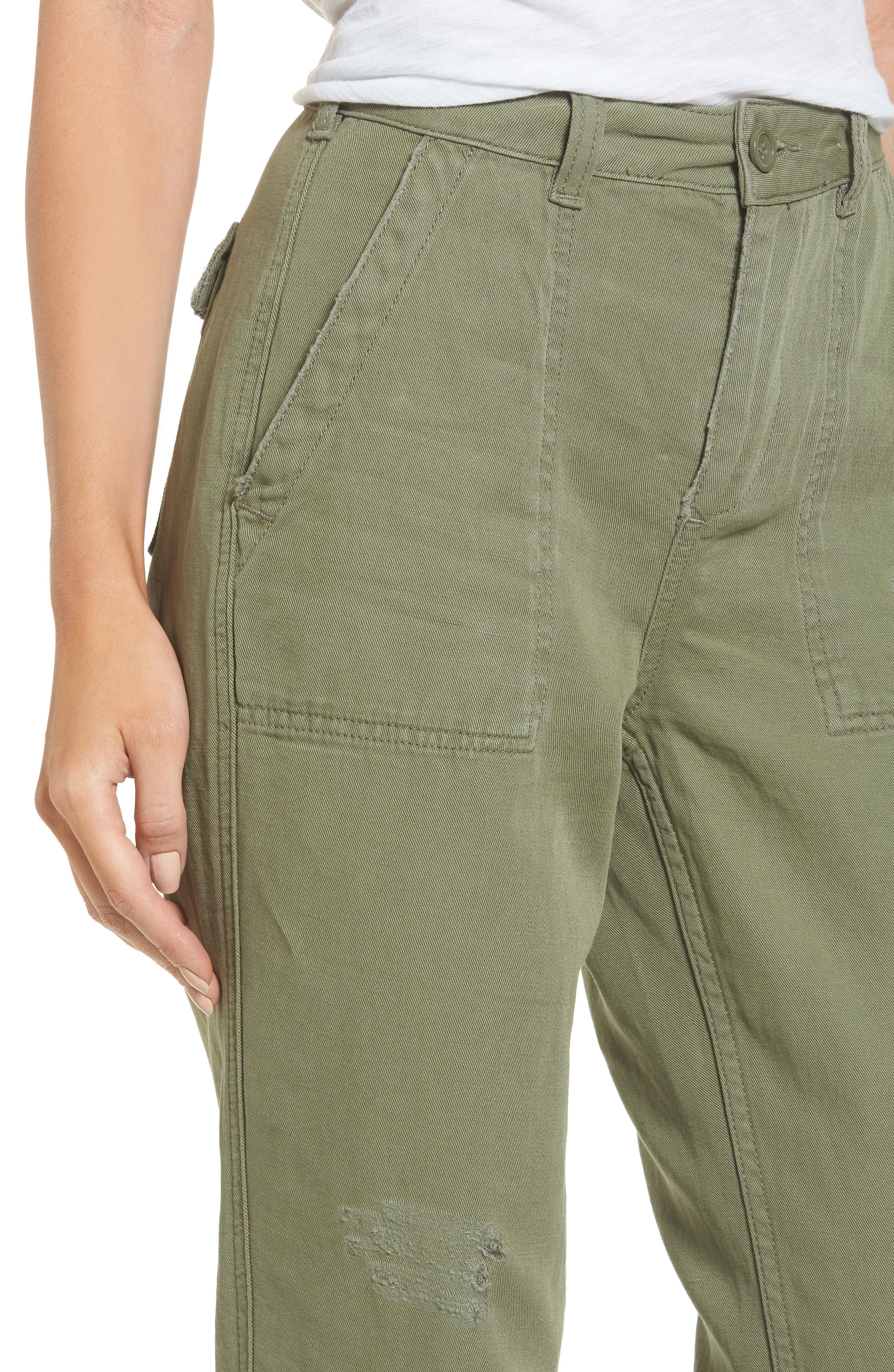 Alternate Image 4  - Topshop Luca Ulility Trousers