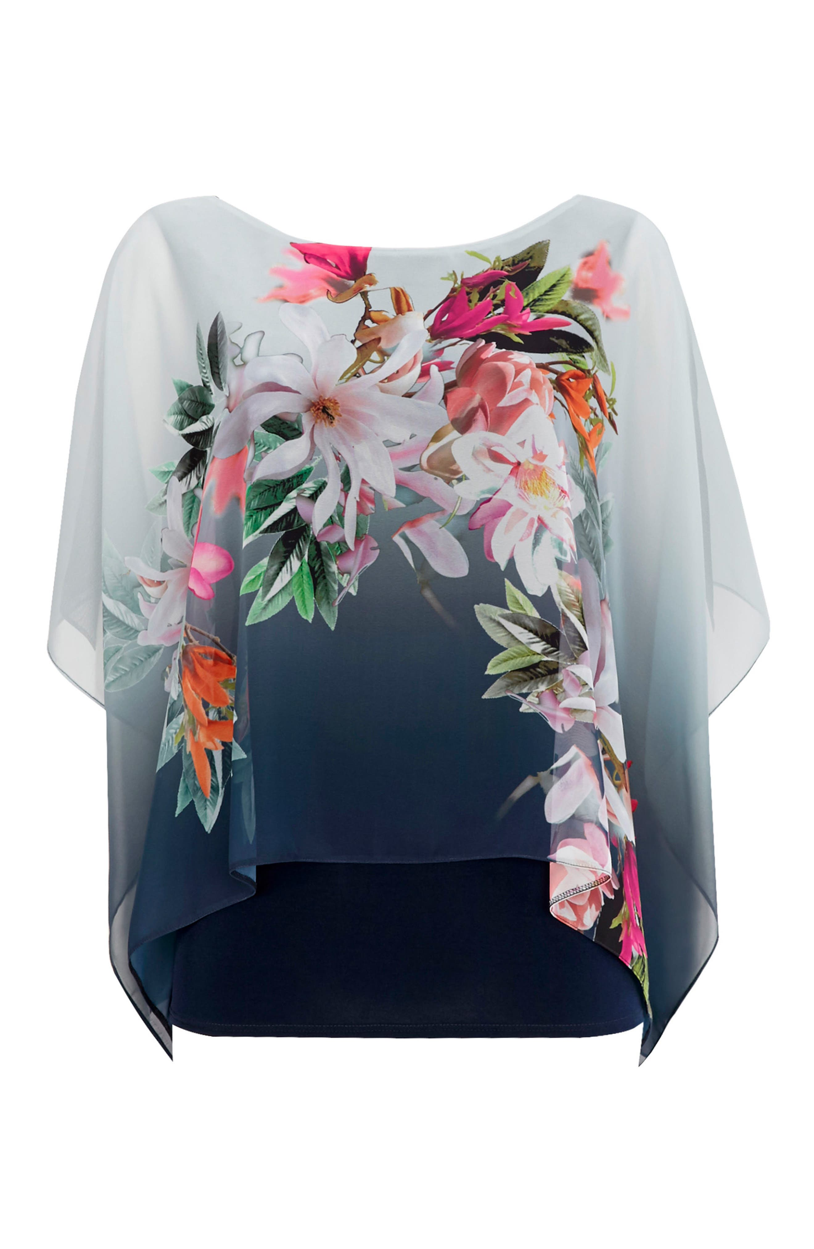 Alternate Image 5  - Wallis Ombré Floral Overlay Top