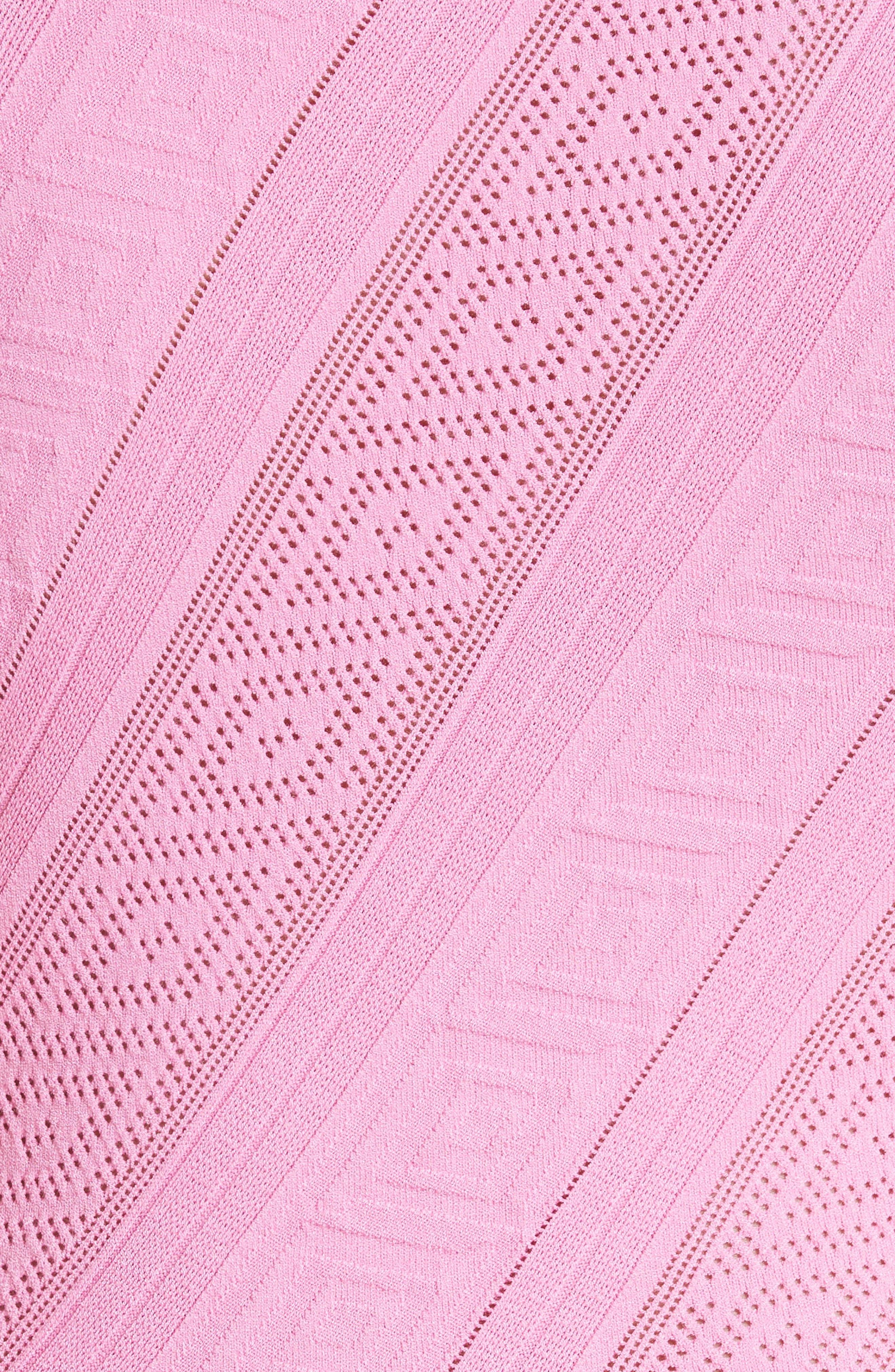 Frame Detail Knit Tank,                             Alternate thumbnail 5, color,                             Rose