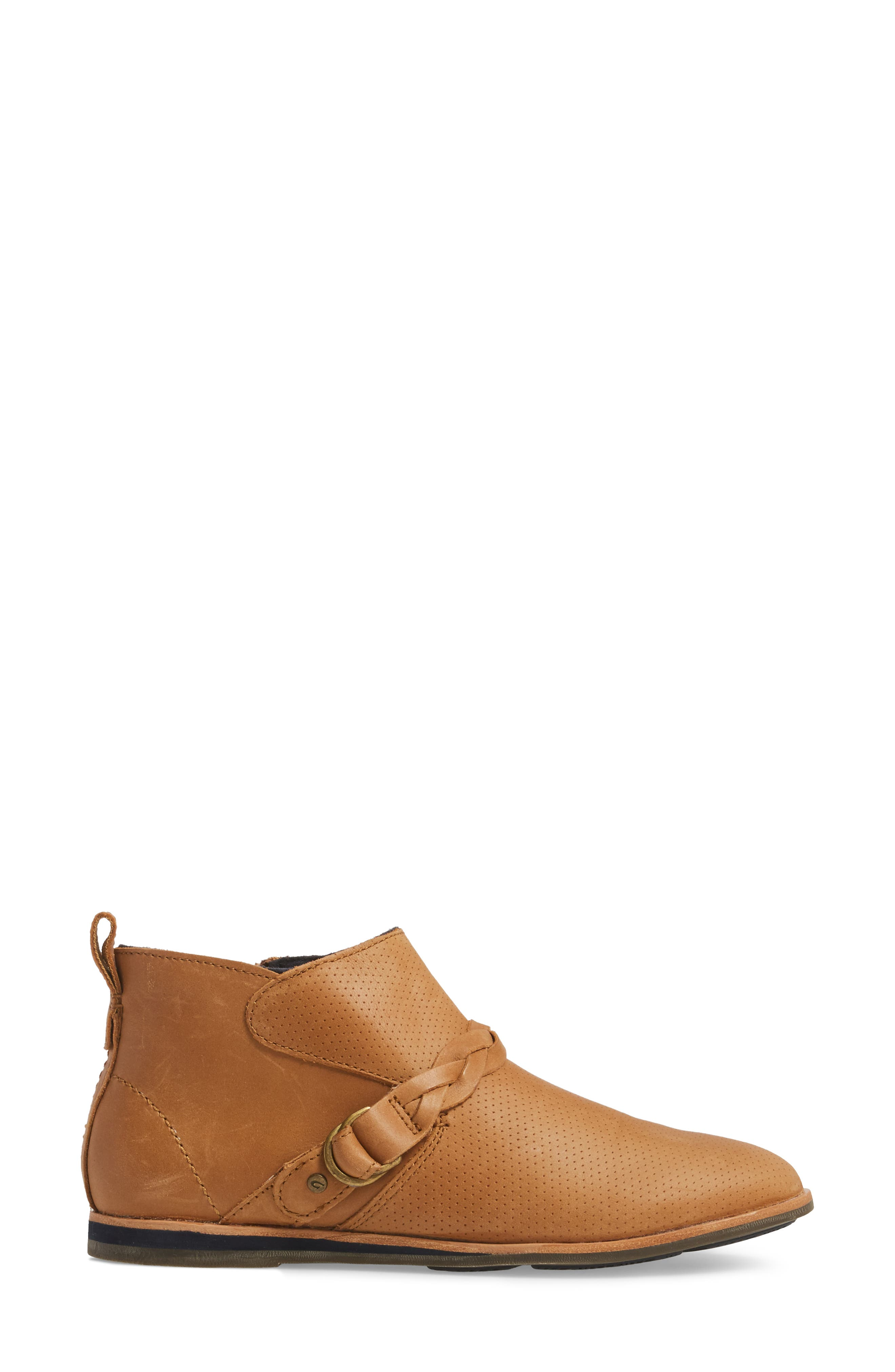 Ho'olu Perforated Bootie,                             Alternate thumbnail 3, color,                             Pecan/ Pecan Leather